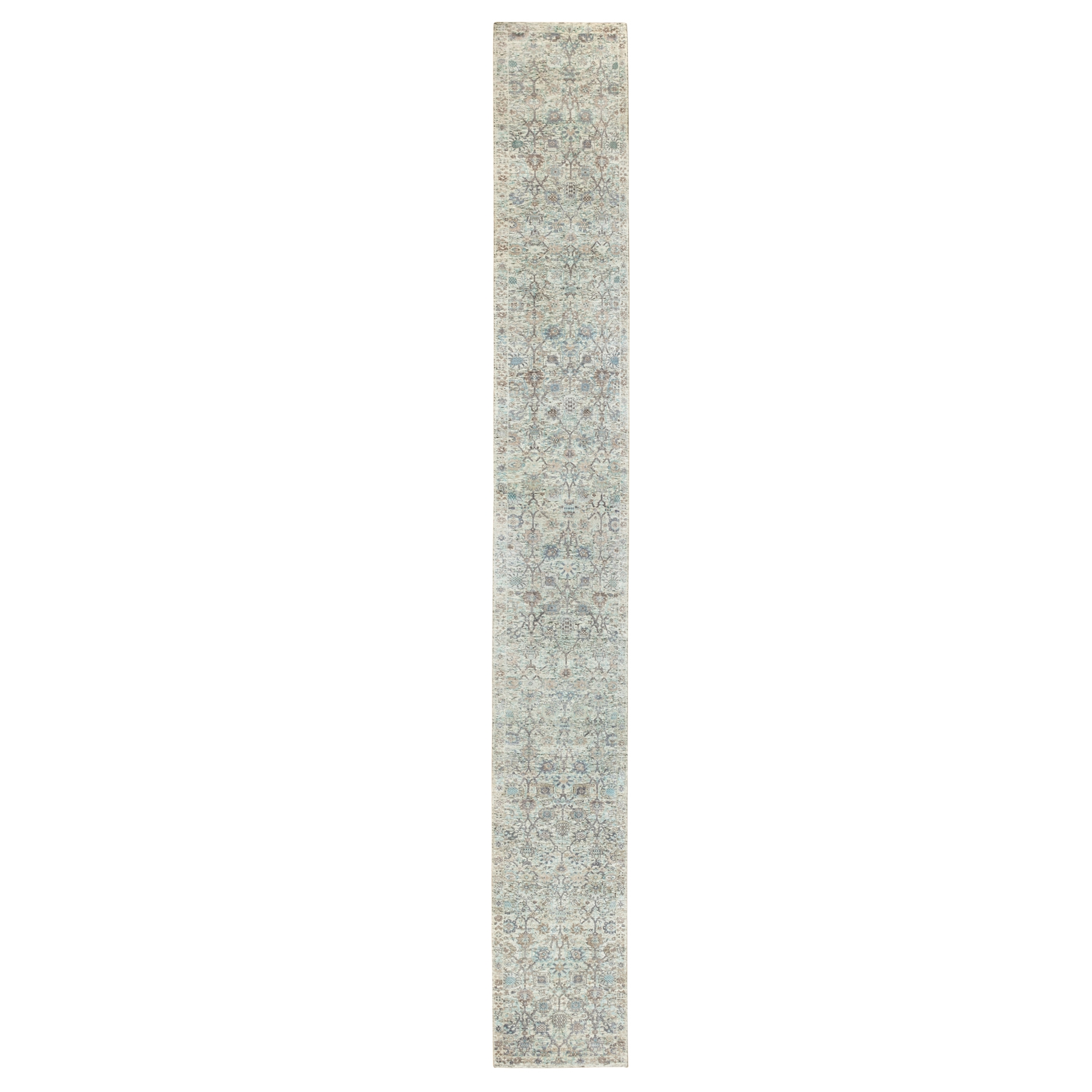 Transitional Hand Knotted Ivory Rug No: 1117962