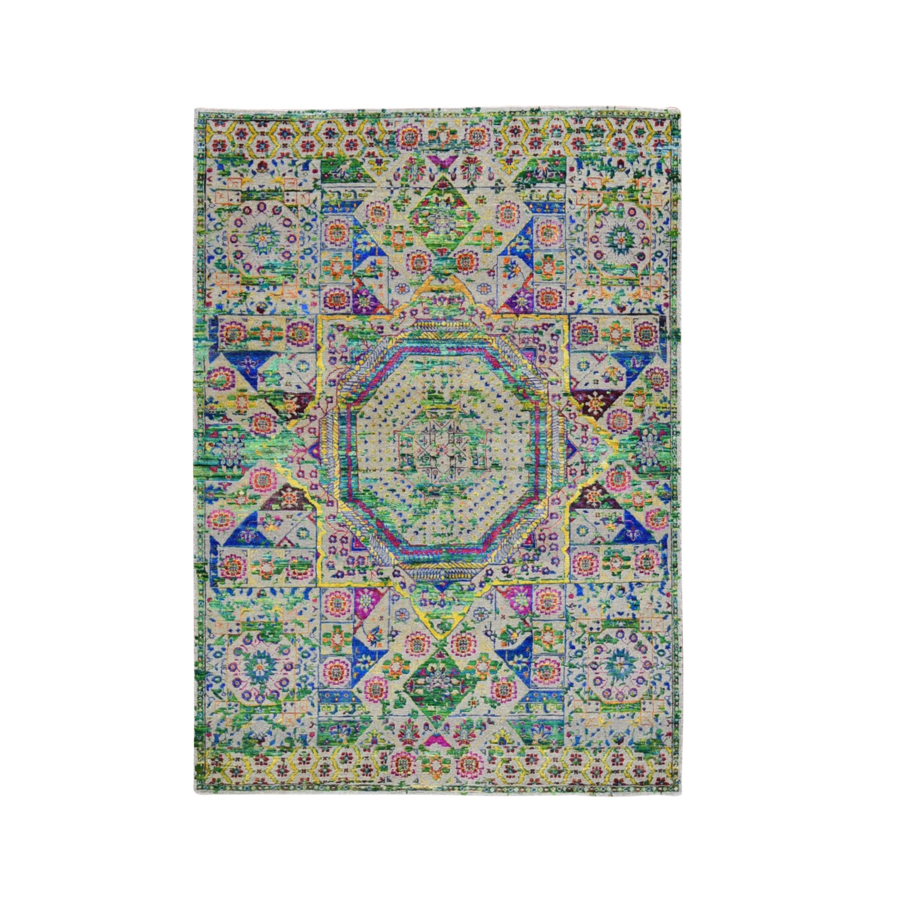 Intricate Collection Hand Knotted Red Rug No: 1119456