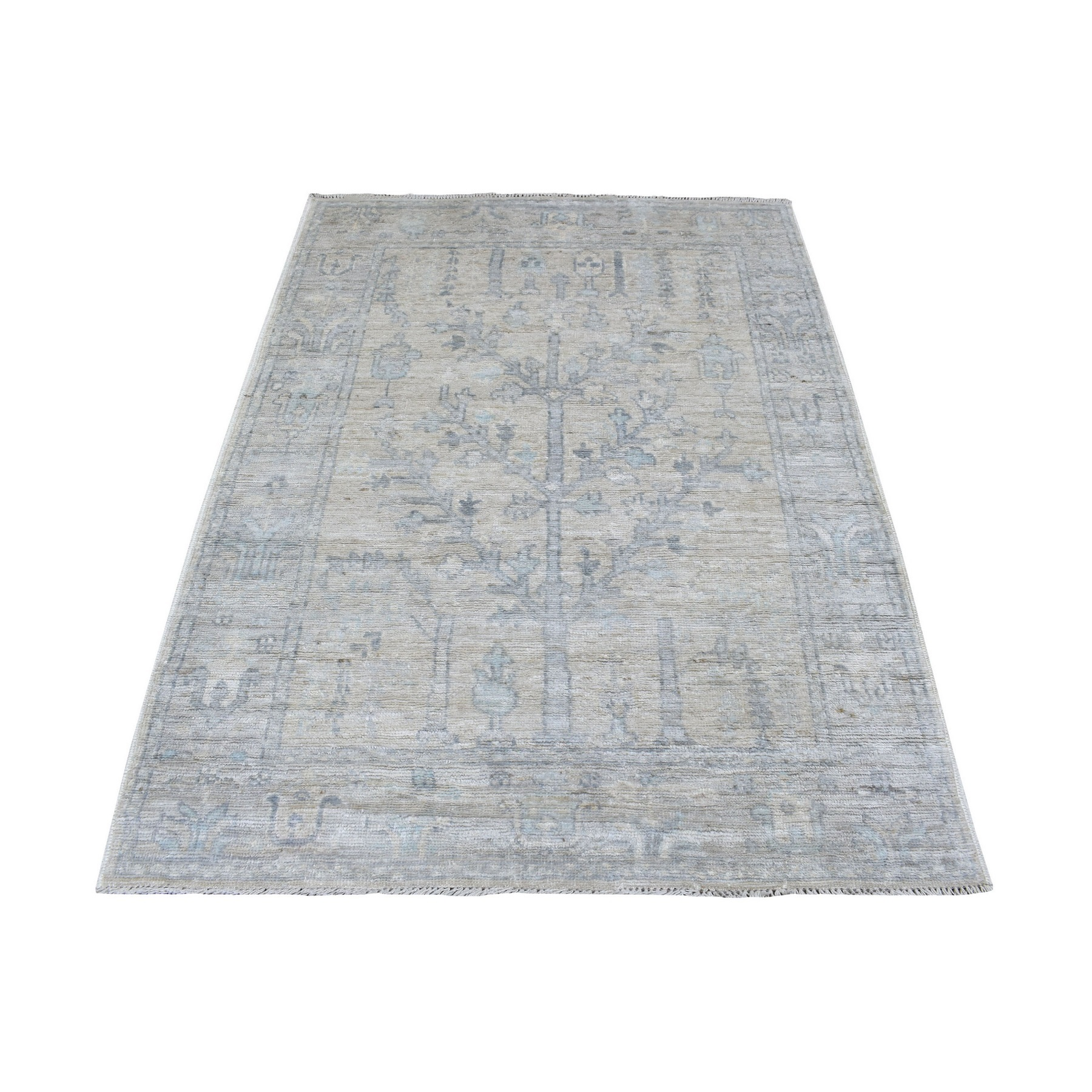 Agra And Turkish Collection Hand Knotted Beige Rug No: 1136734