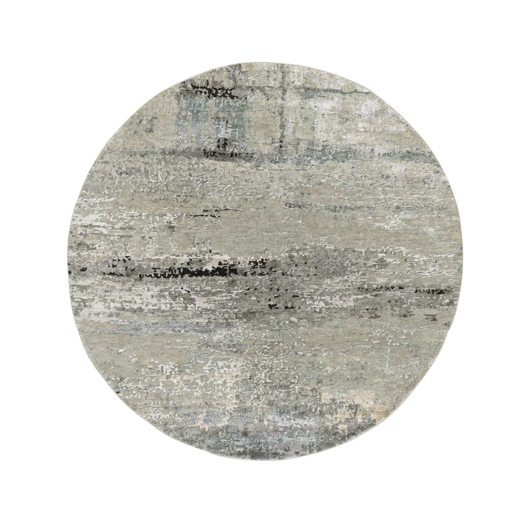 Mid Century Modern Collection Hand Knotted Beige Rug No: 1124280