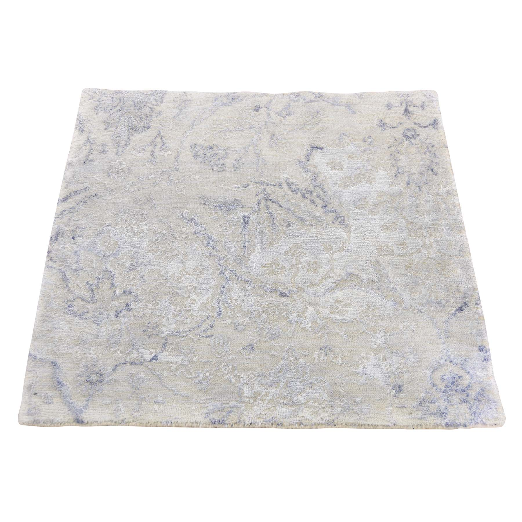 Mid Century Modern Collection Hand Knotted Grey Rug No: 187752