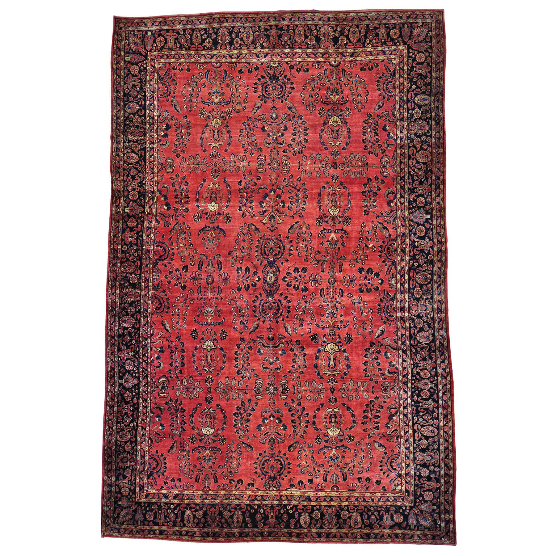 Antique Collection Hand Knotted Red Rug No: 154214