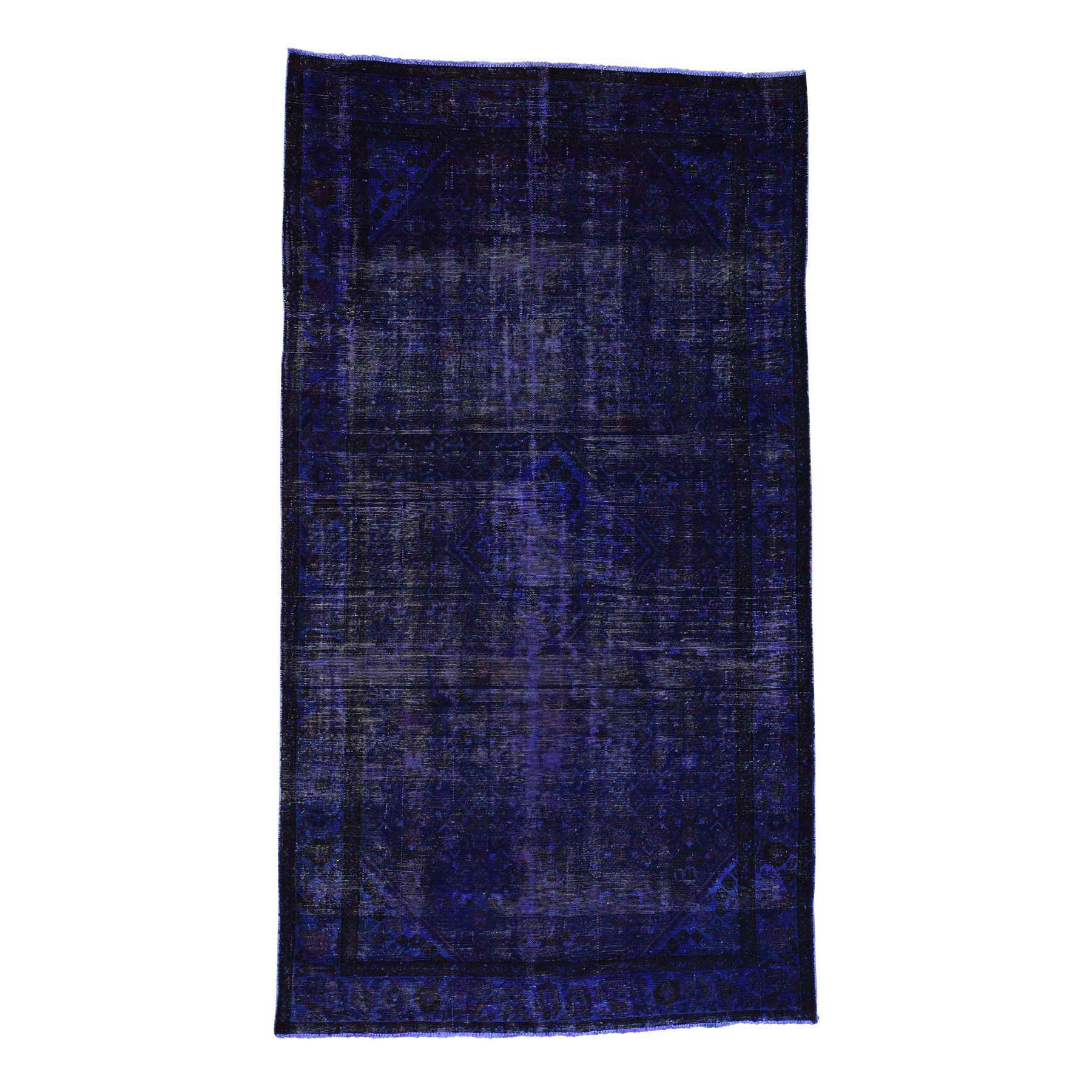 Fetneh Collection And Vintage Overdyed Collection Hand Knotted Purple Rug No: 169066