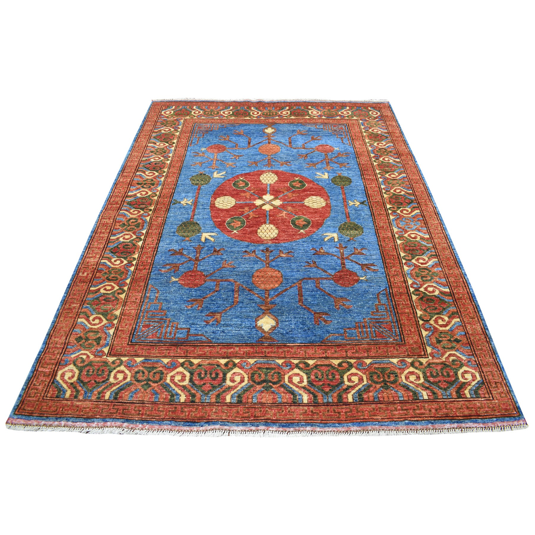 Nomadic And Village Collection Hand Knotted Blue Rug No: 1113820