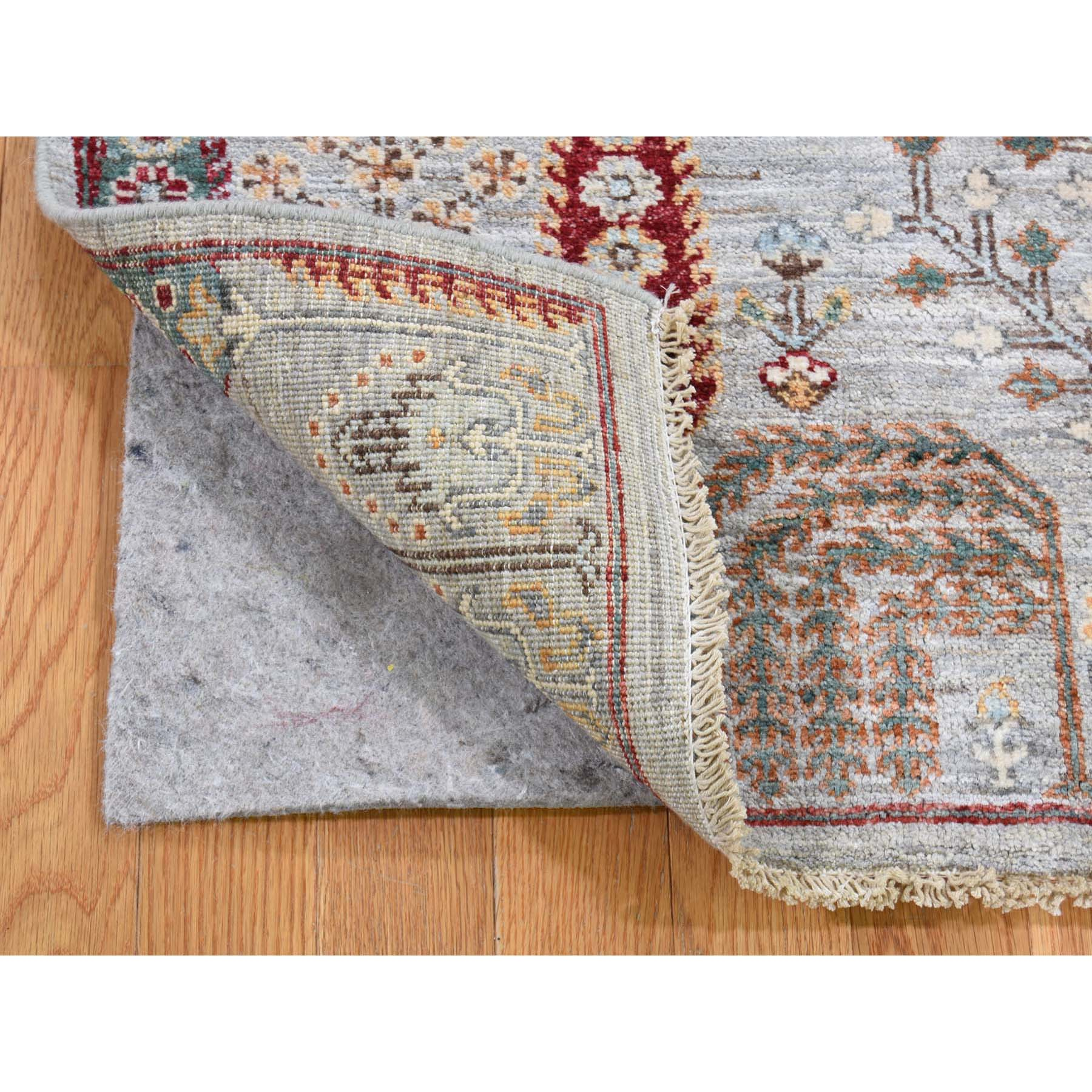 Nomadic And Village Collection Hand Knotted Grey 0187894 Rug