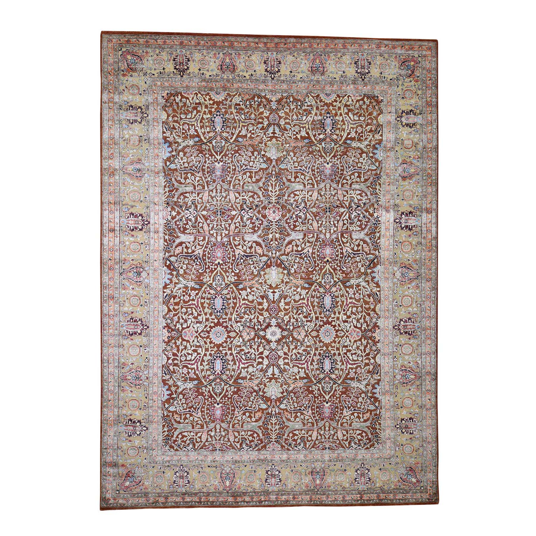 Agra And Turkish Collection Hand Knotted Brown Rug No: 0188418