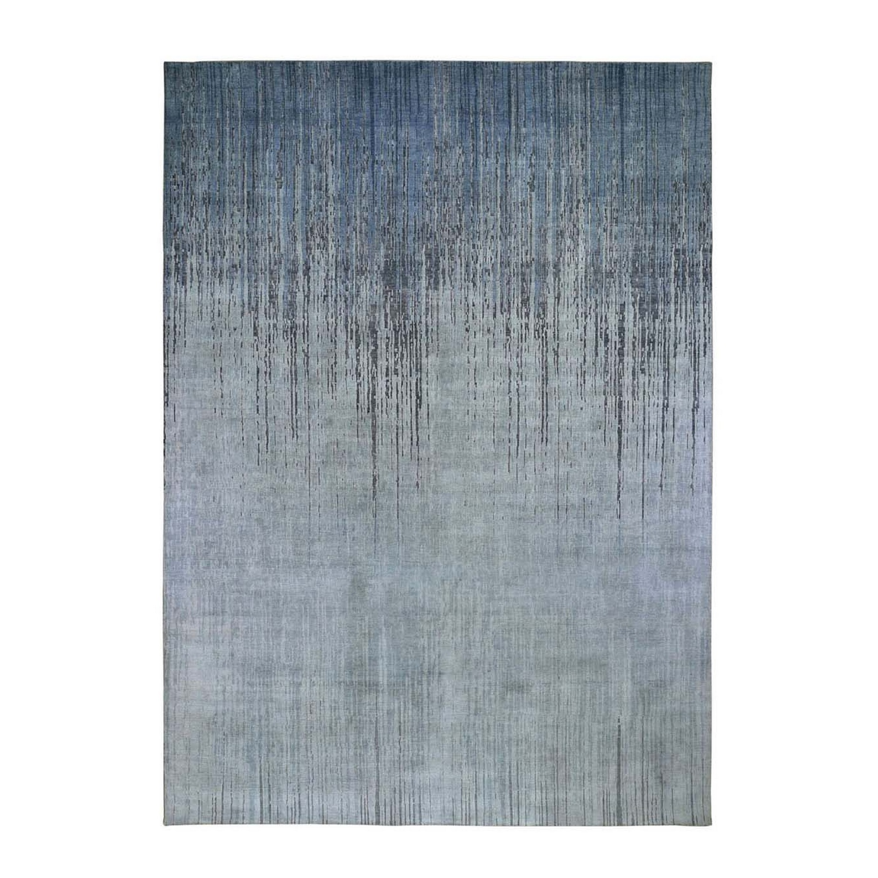 Mid Century Modern Collection Hand Knotted Grey Rug No: 1119894