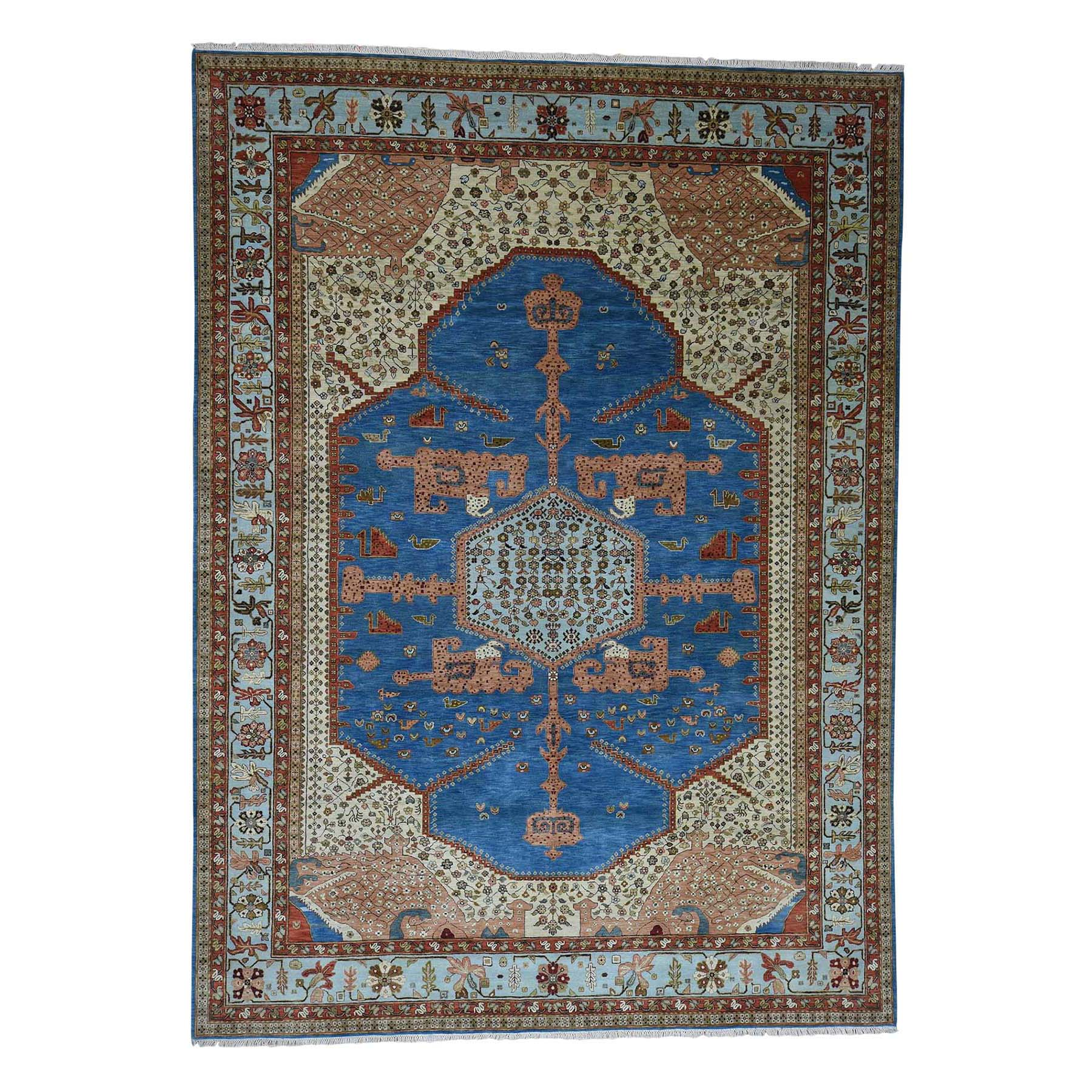 Serapi Heriz and Bakhshayesh Collection Hand Knotted Blue Rug No: 0188326