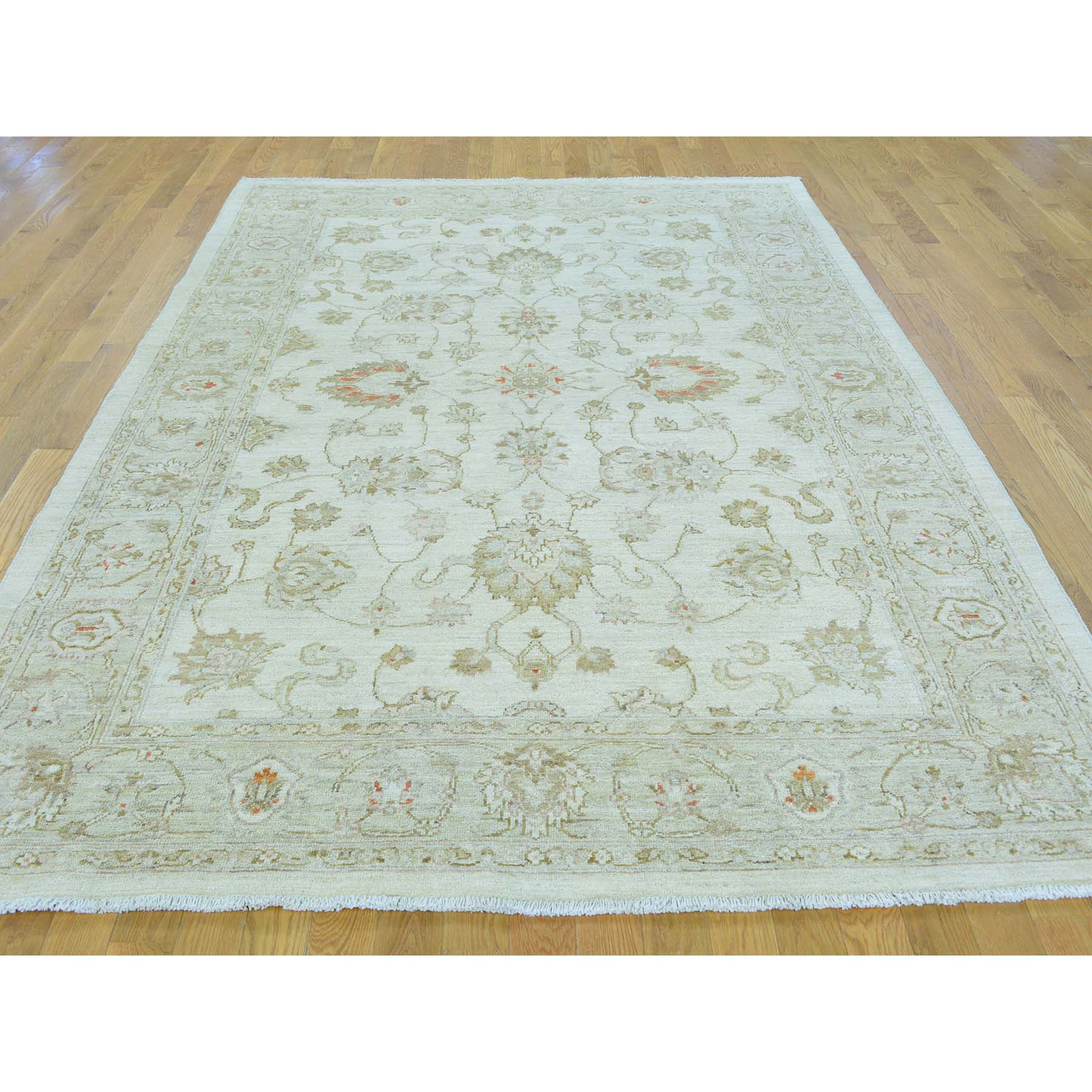Agra And Turkish Collection Hand Knotted Ivory 0153882 Rug