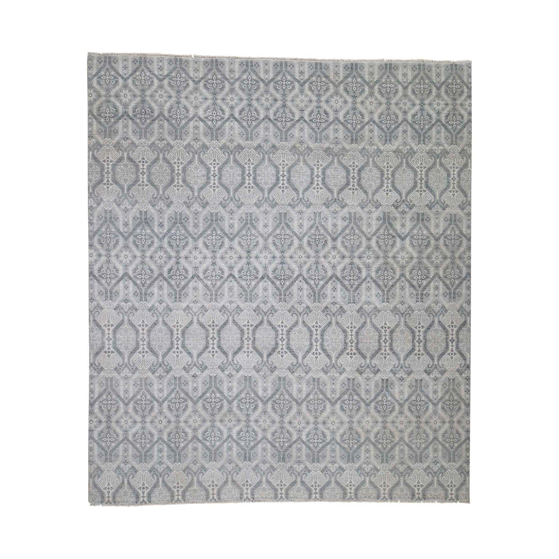 Eclectic and Bohemian Collection Hand Knotted Grey Rug No: 188664