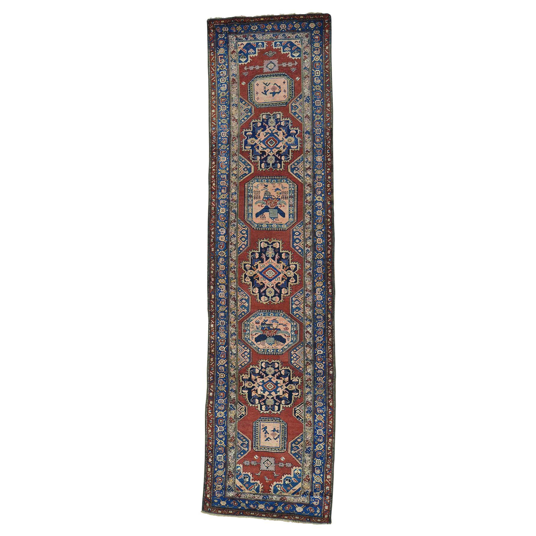 Antique Collection Hand Knotted Red Rug No: 0154350