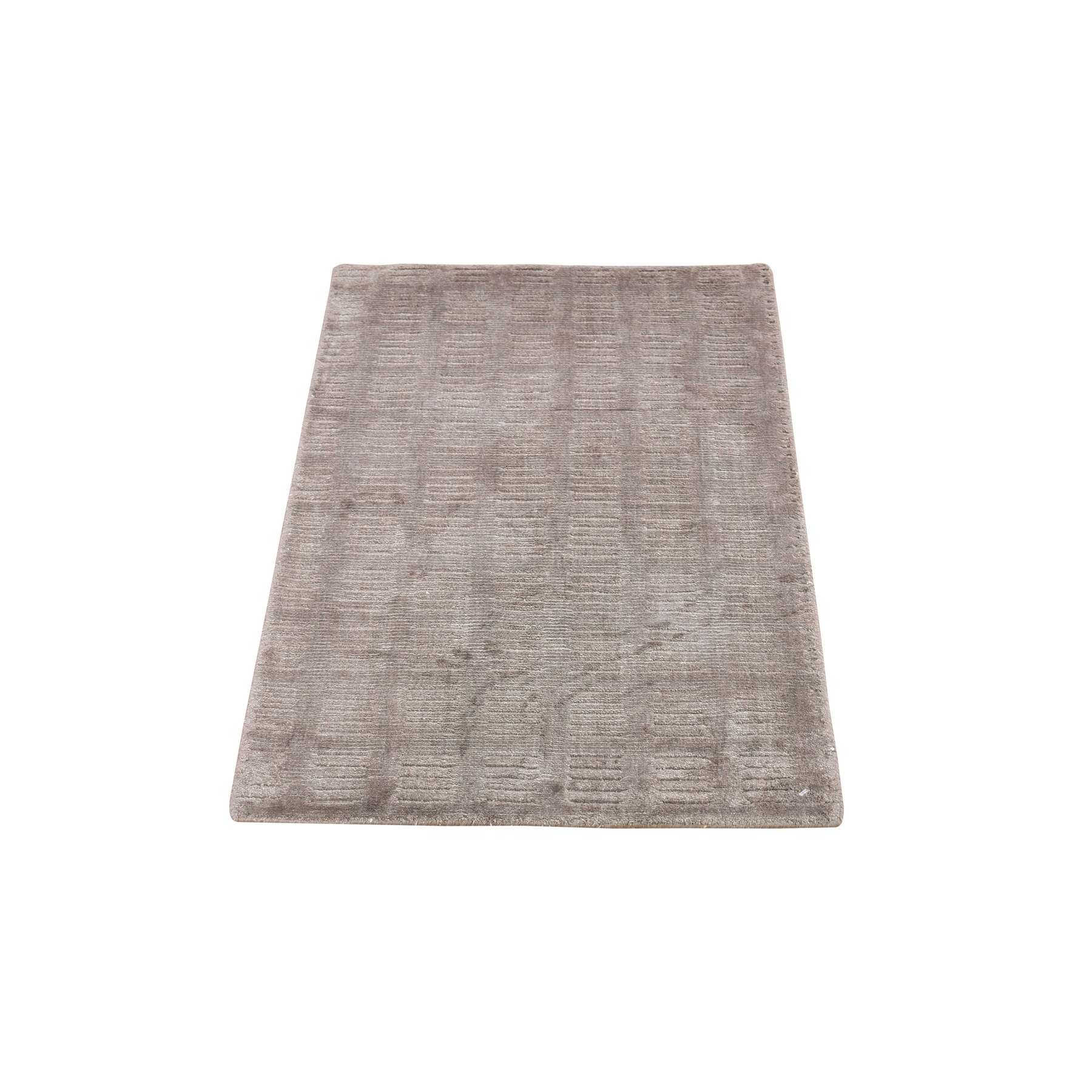 Mid Century Modern Collection Hand Loomed Brown Rug No: 1132320