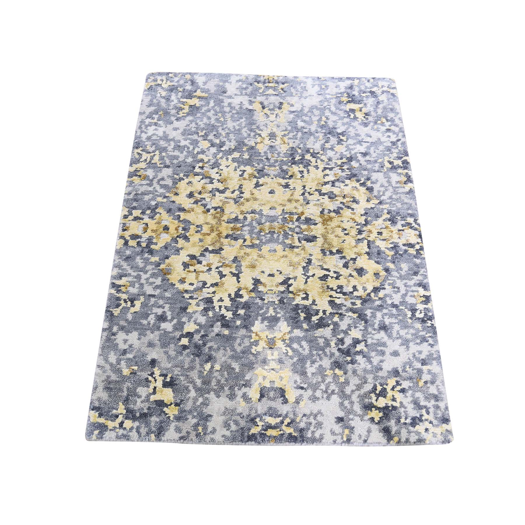 Mid Century Modern Collection Hand Knotted Grey Rug No: 0187770