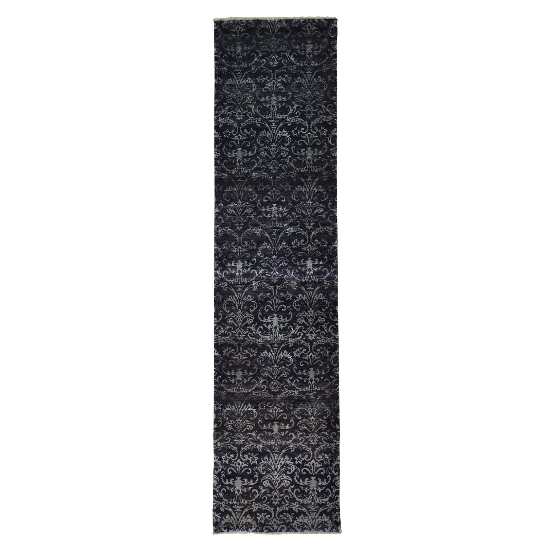 Mid Century Modern Collection Hand Knotted Purple Rug No: 0154468