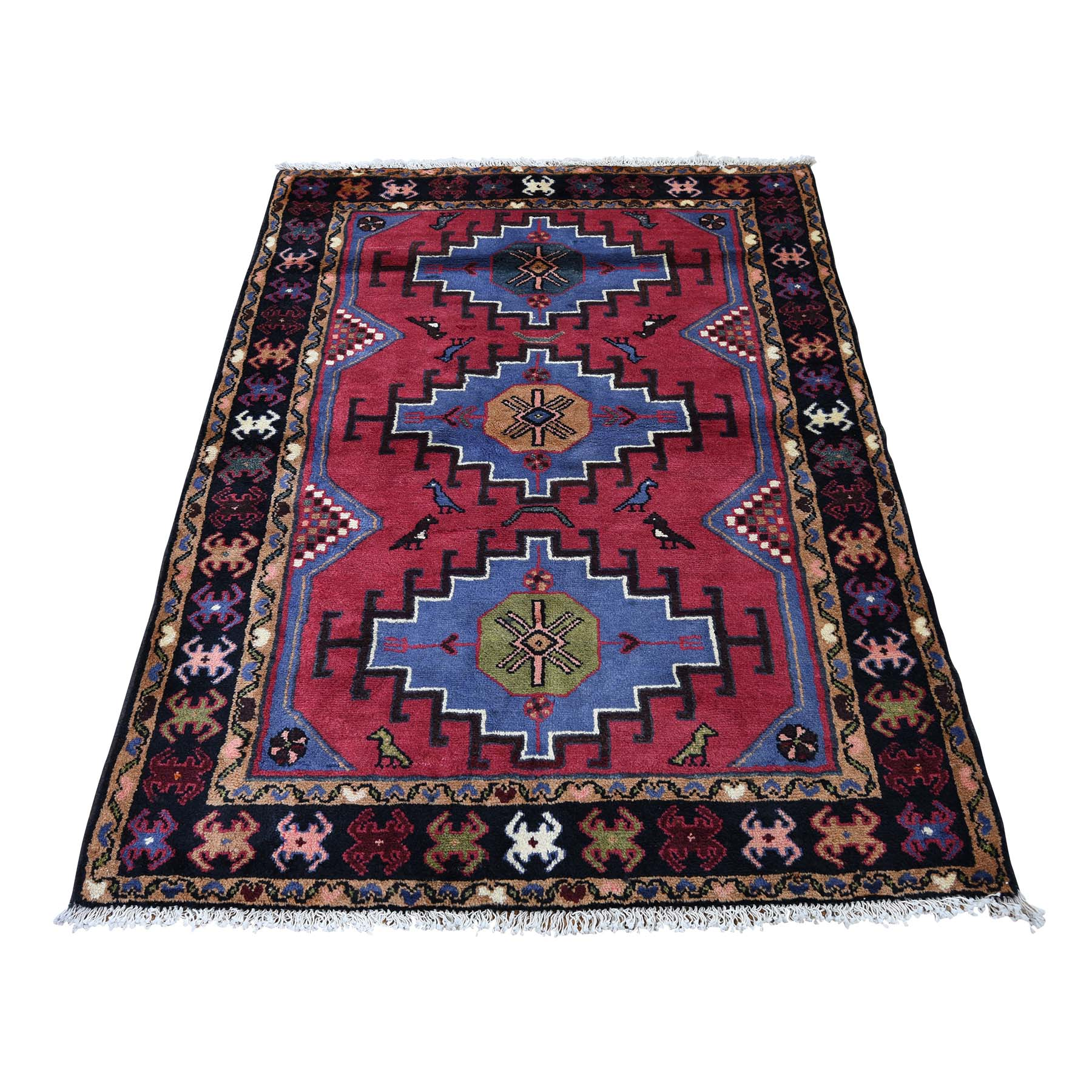 Classic Persian Collection Hand Knotted Red Rug No: 0188962