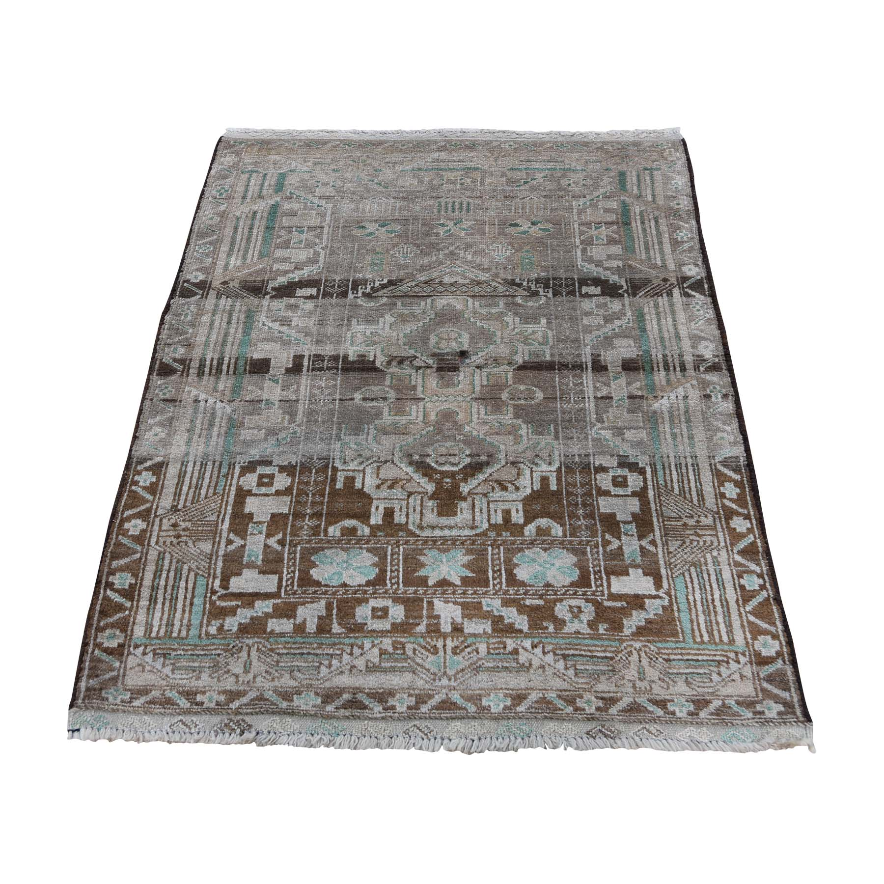 Nomadic And Village Collection Hand Knotted Brown Rug No: 0188984