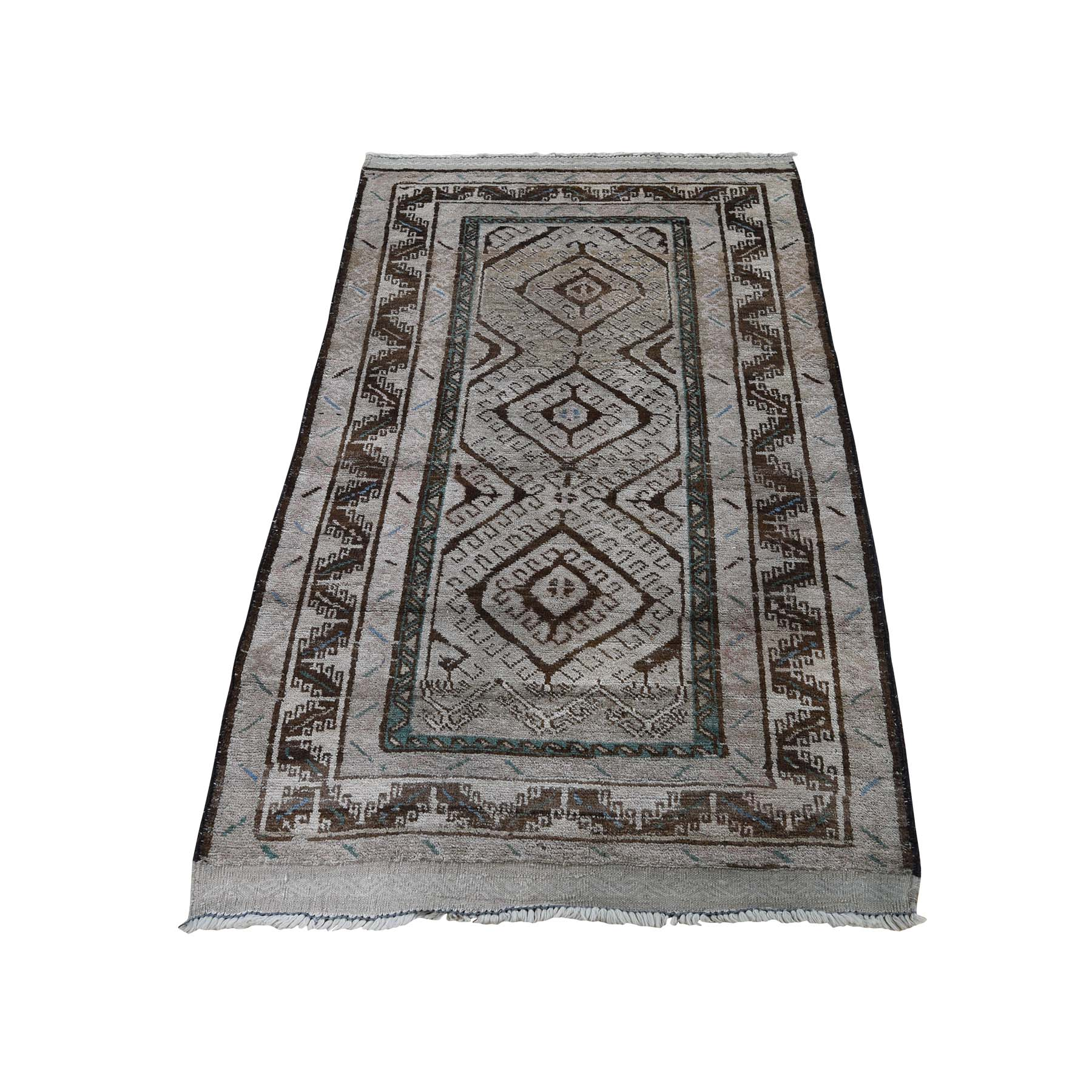 Nomadic And Village Collection Hand Knotted Brown Rug No: 0188986