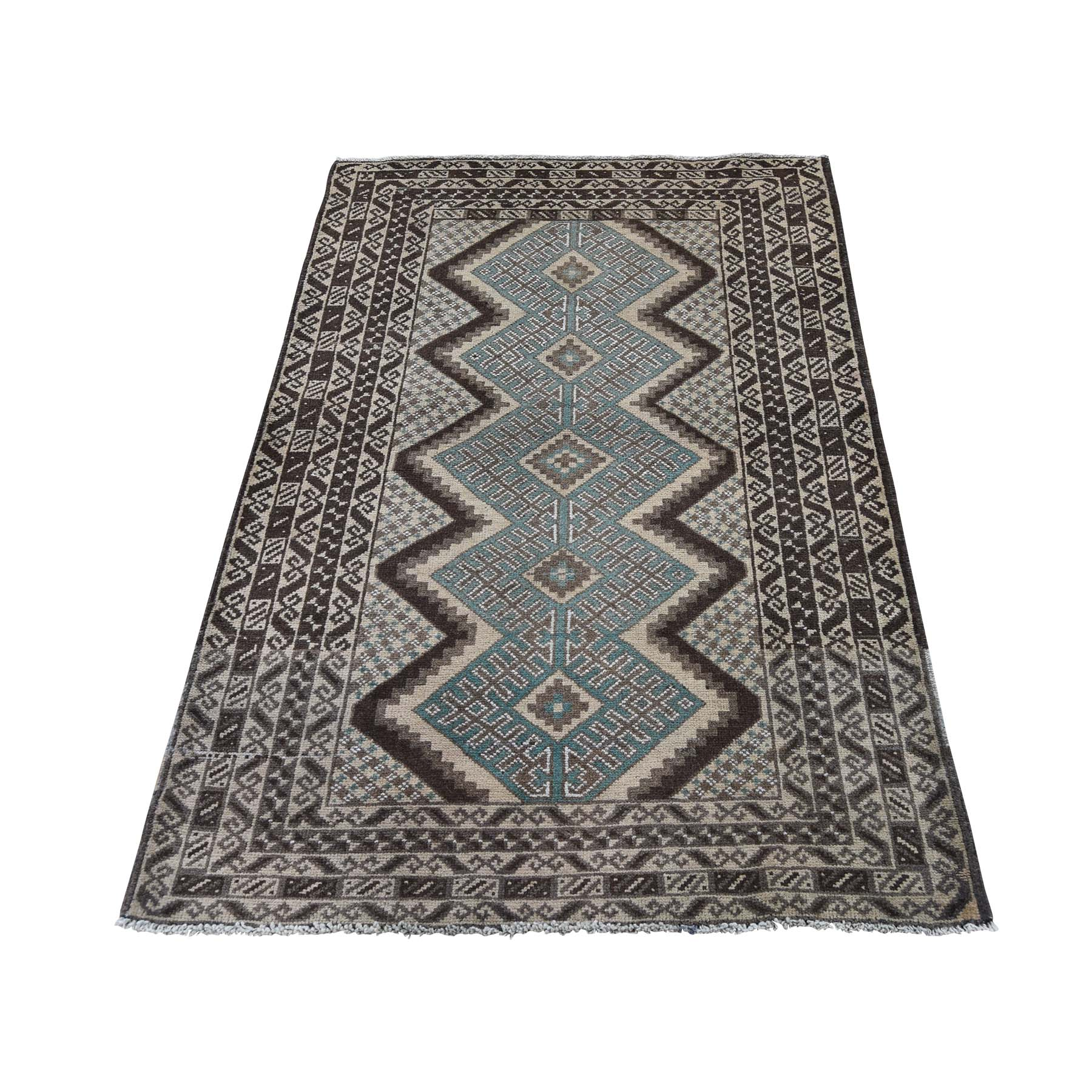 Nomadic And Village Collection Hand Knotted Brown Rug No: 0188994