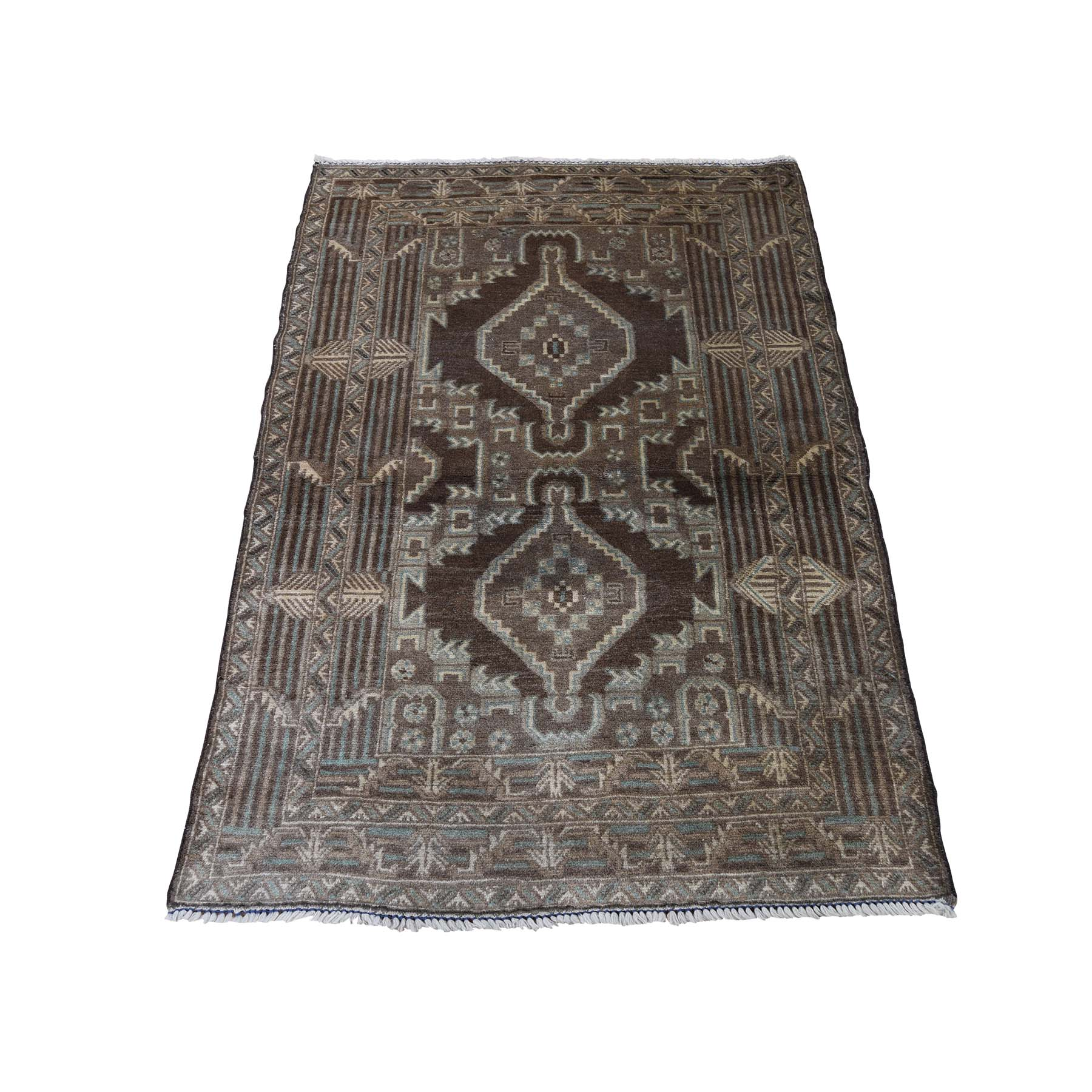Nomadic And Village Collection Hand Knotted Brown Rug No: 0188996