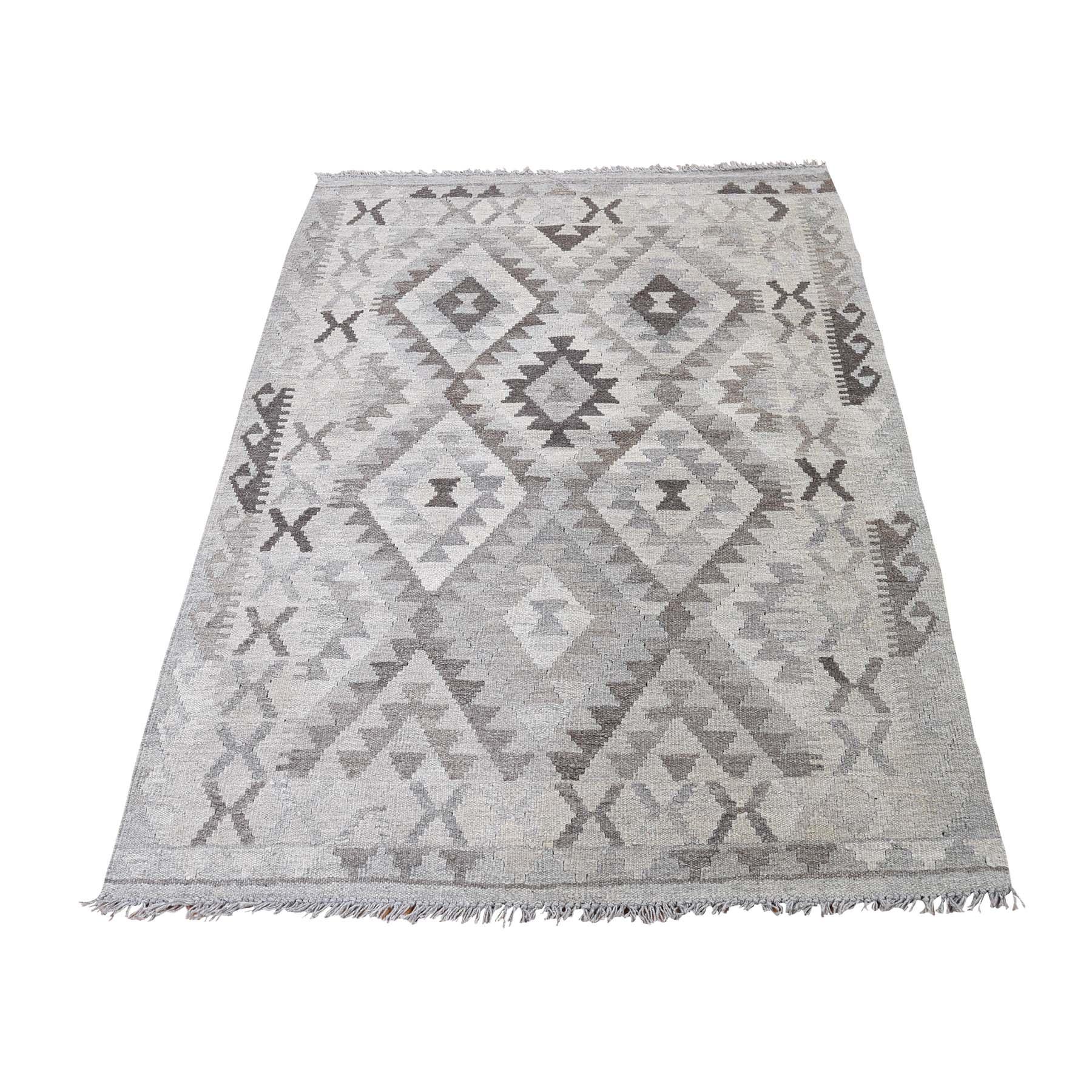 Fine Kilim Collection Hand Woven Grey Rug No: 0189008
