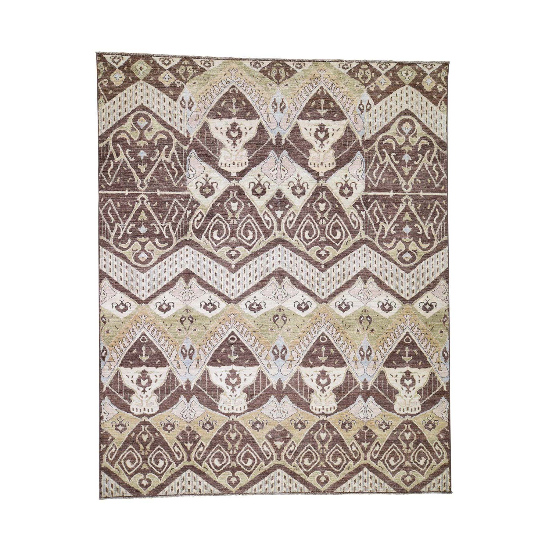 Deep discounted Collection Hand Knotted Brown Rug No: 189052