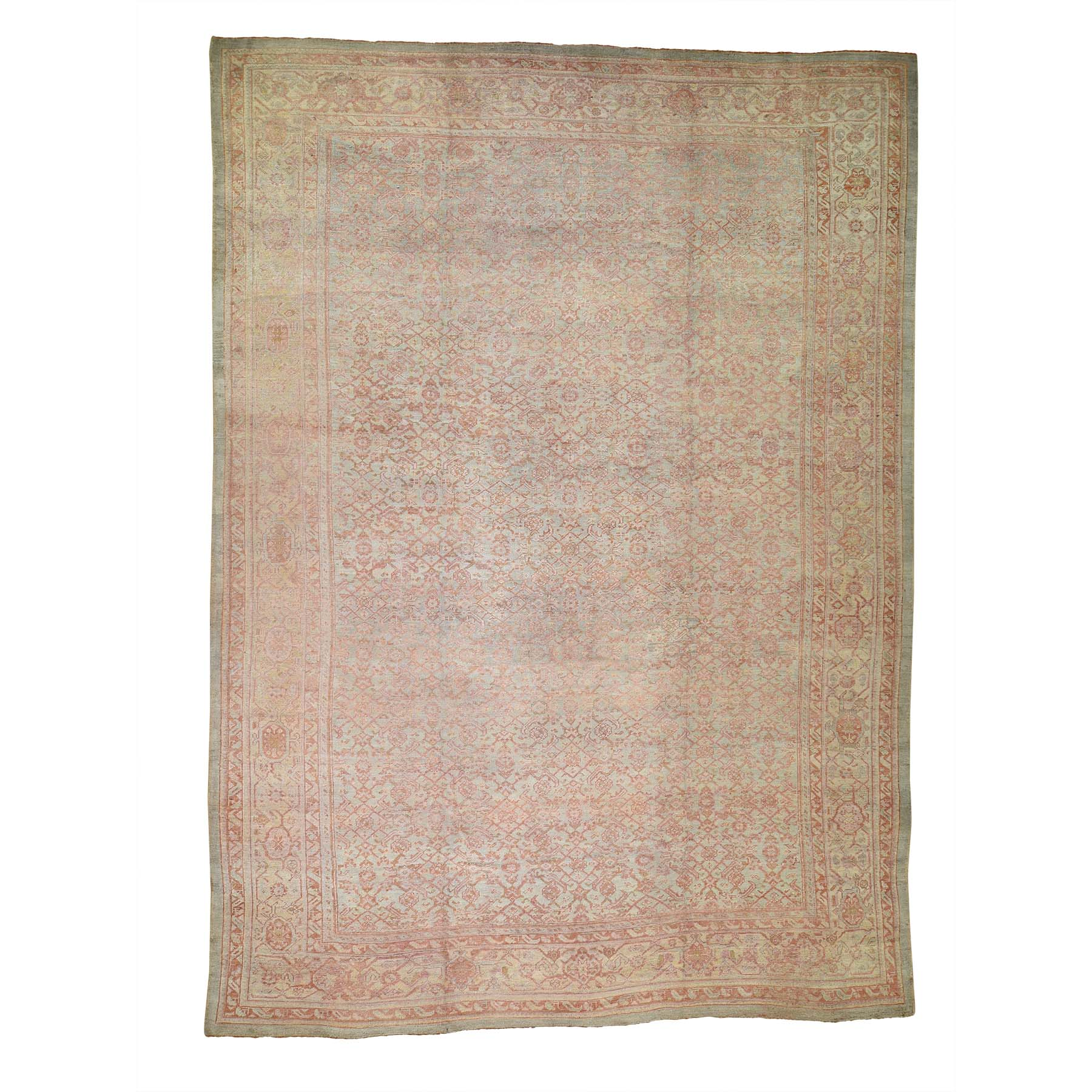 Antique Collection Hand Knotted Orange Rug No: 0189476