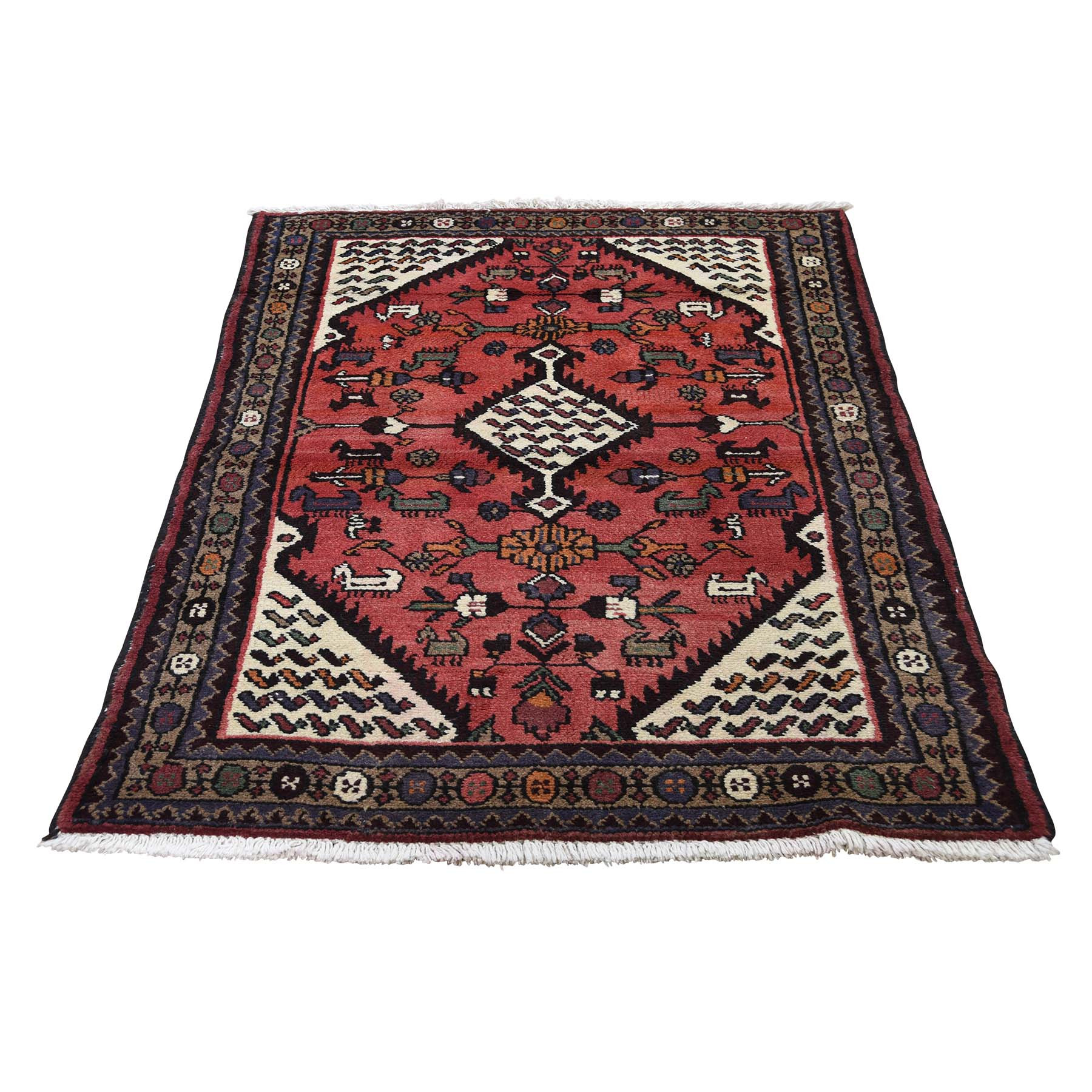 Classic Persian Collection Hand Knotted Pink Rug No: 0189380