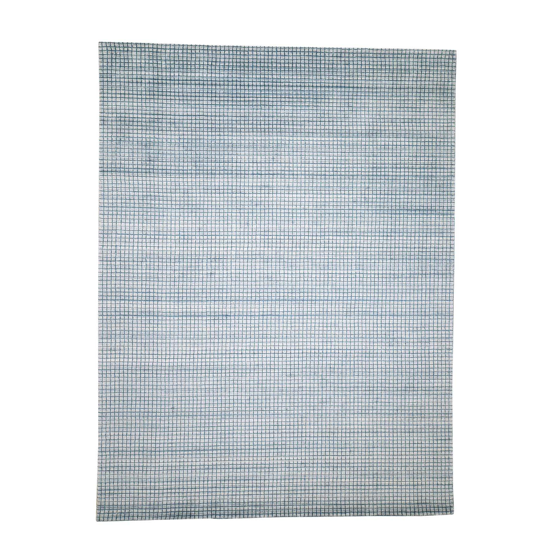 Modern Collection Hand Loomed Teal Rug No: 0189686