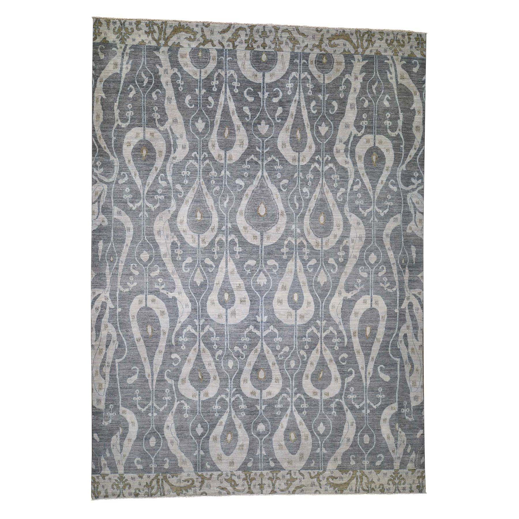 Eclectic and Bohemian Collection Hand Knotted Grey Rug No: 0189572