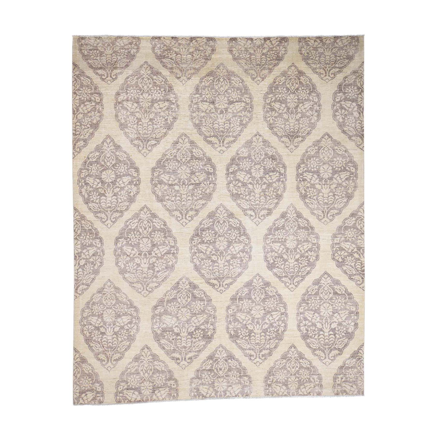 Agra And Turkish Collection Hand Knotted Beige Rug No: 0178670
