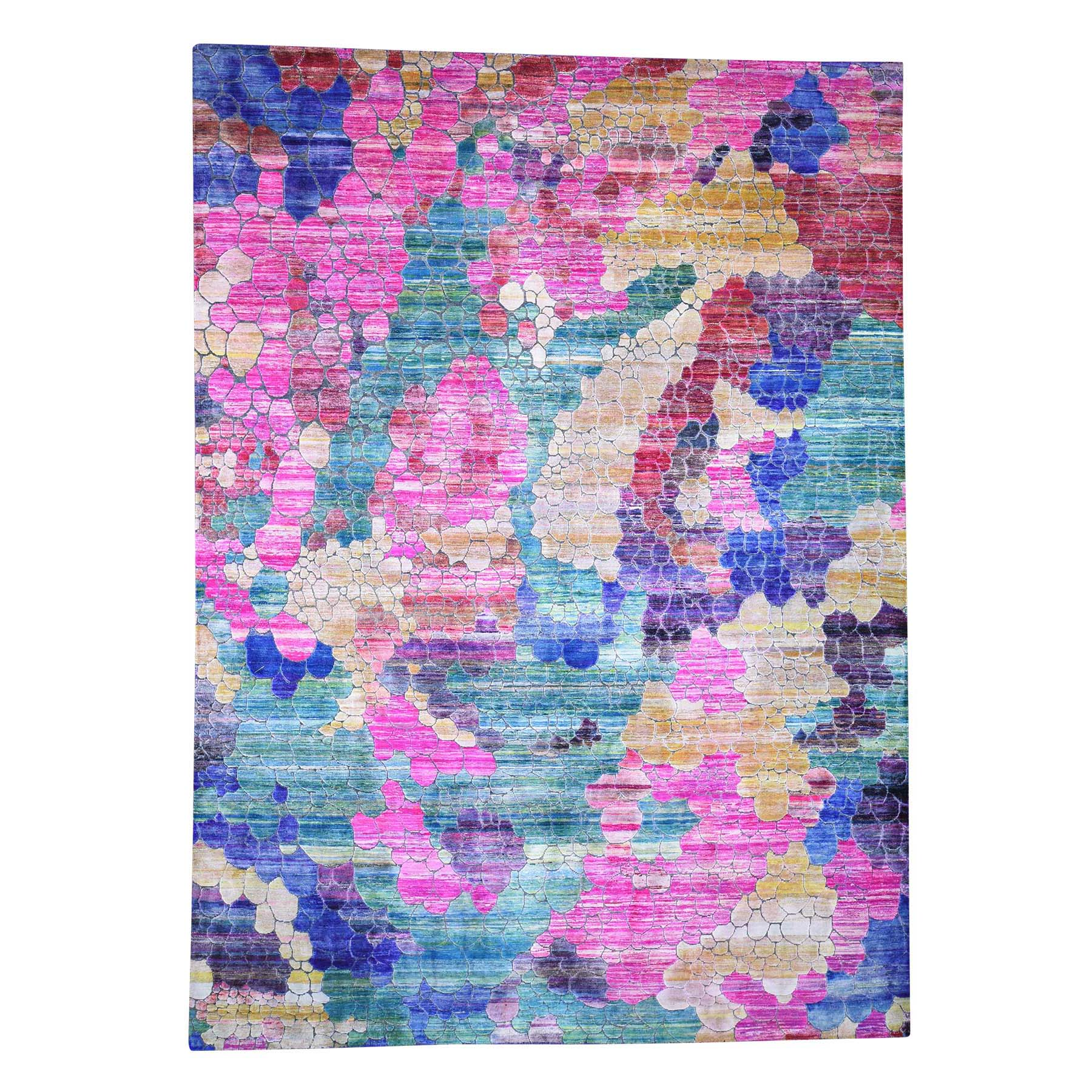 Real Silk Collection Hand Knotted Pink Rug No: 0190368