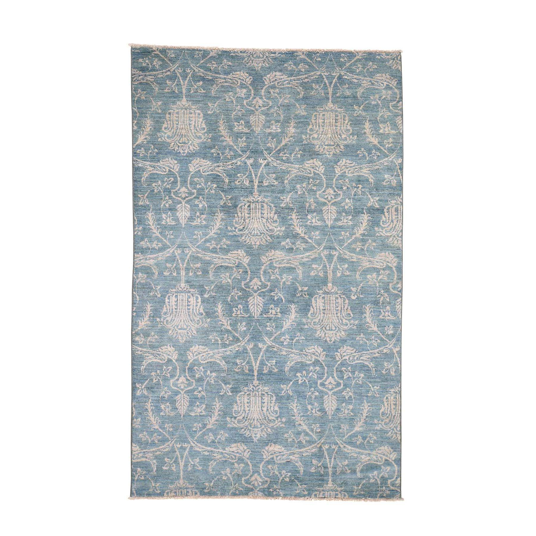 Eclectic and Bohemian Collection Hand Knotted Blue Rug No: 0190296