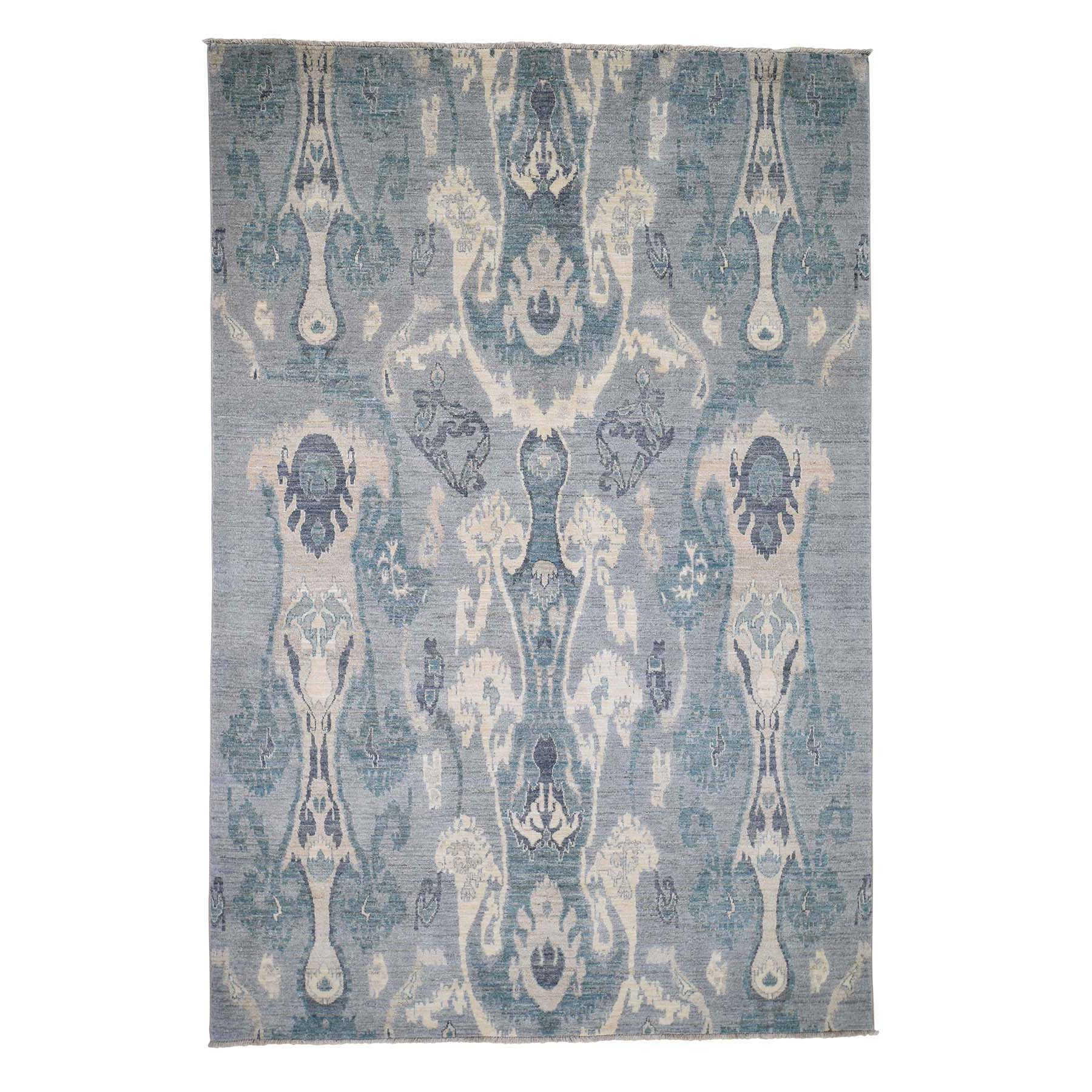Eclectic and Bohemian Collection Hand Knotted Grey Rug No: 0190328