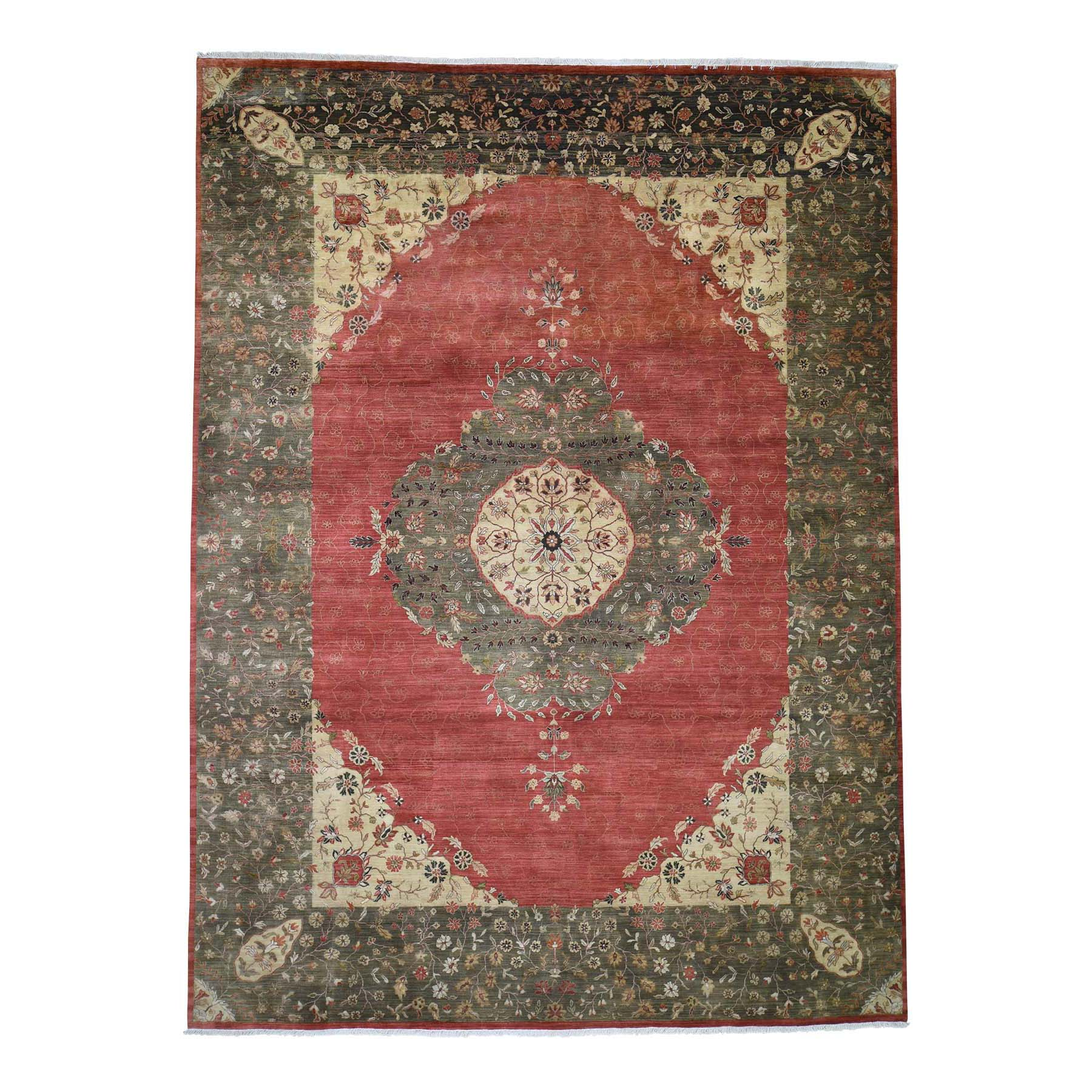Pirniakan Collection Hand Knotted Red Rug No: 190624