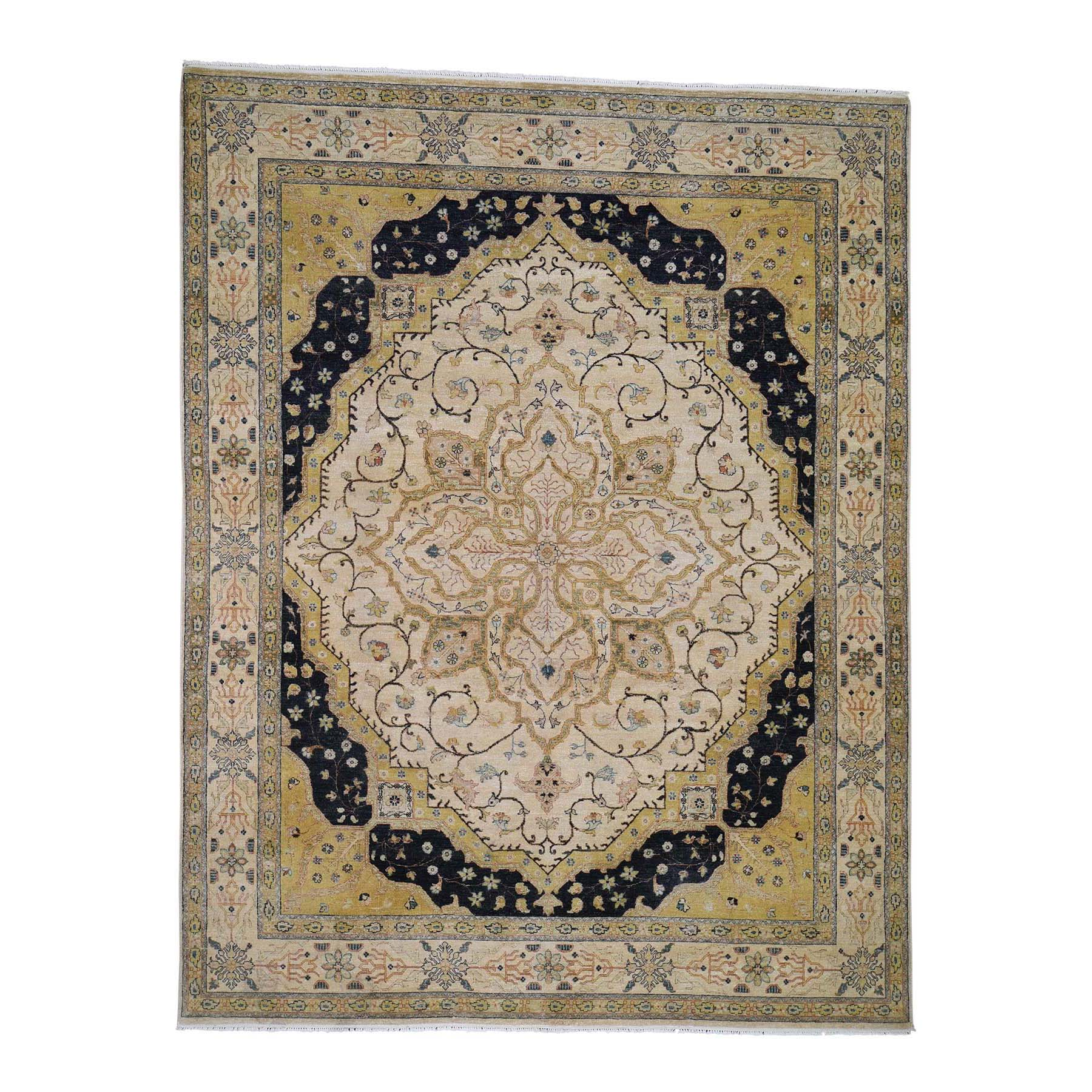 Pirniakan Collection Hand Knotted Beige Rug No: 0190670