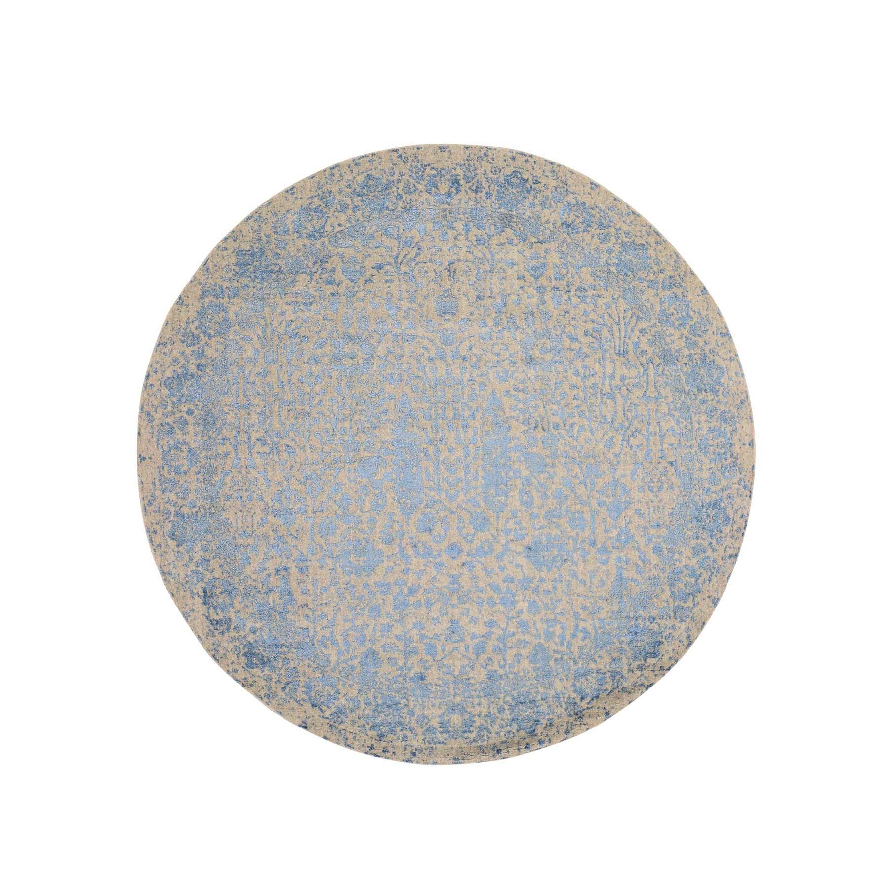 Transitional Hand Loomed Blue Rug No: 191120