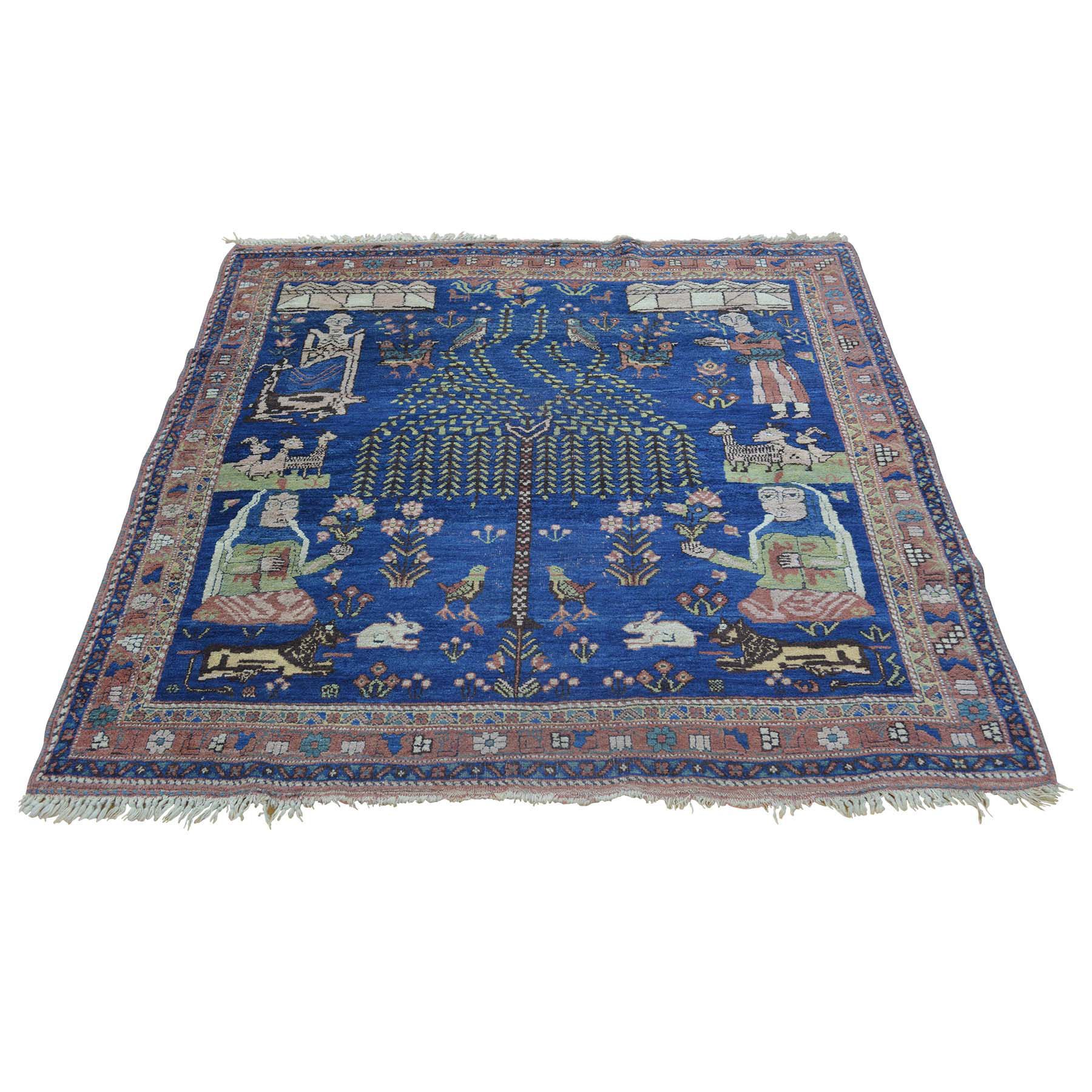 Antique Collection Hand Knotted Blue Rug No: 156466
