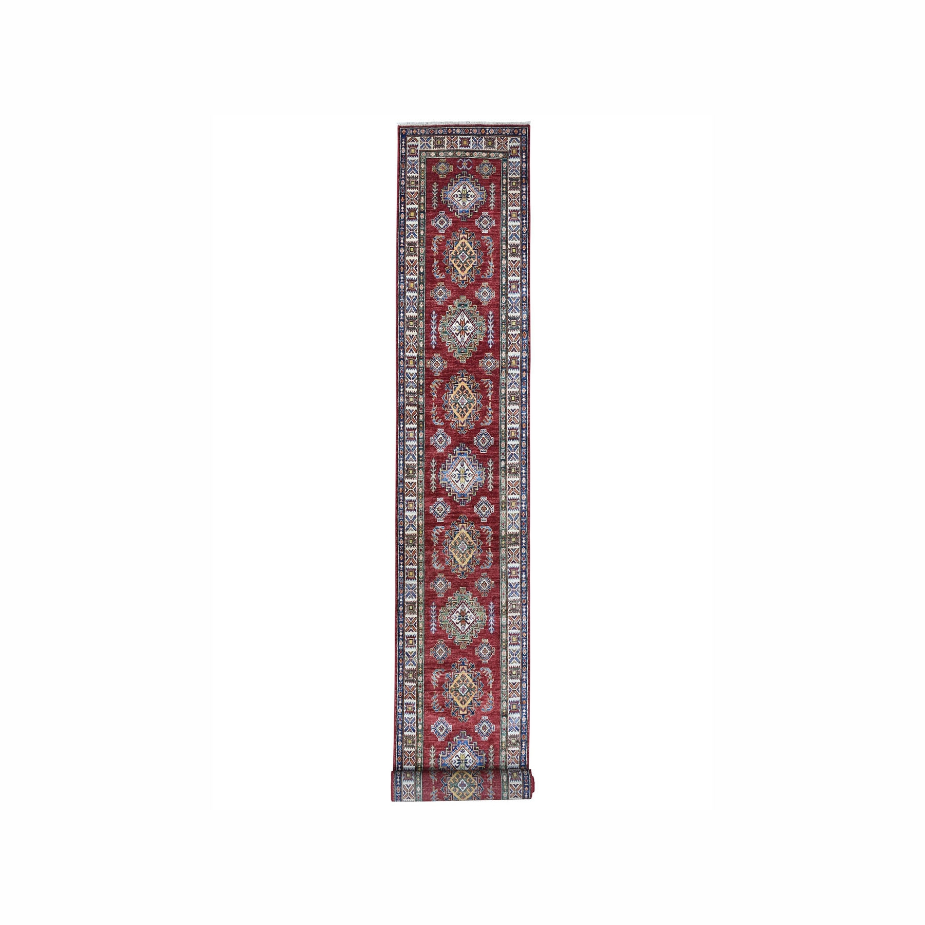 Caucasian Collection Hand Knotted Red Rug No: 1100040