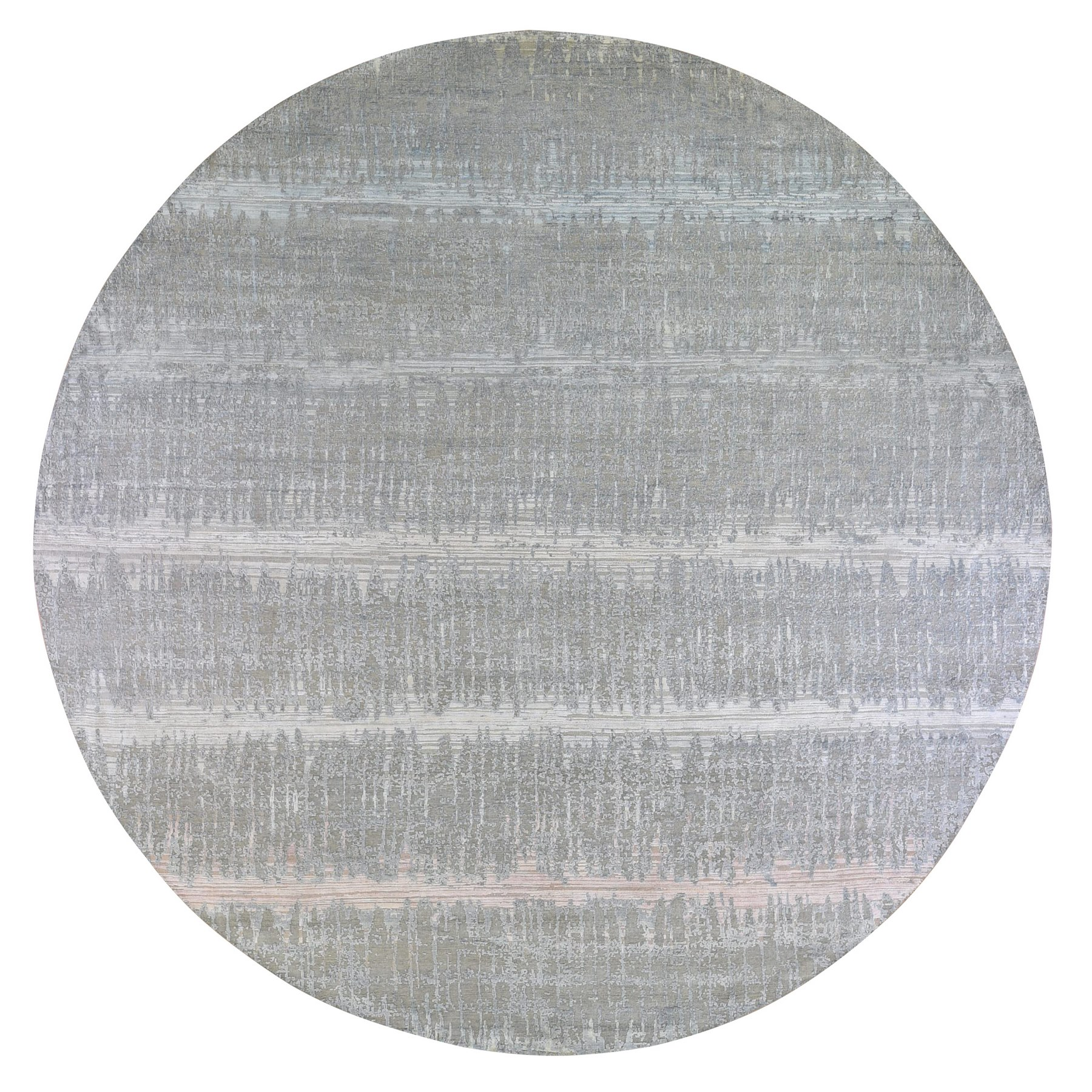 Mid Century Modern Collection Hand Knotted Grey Rug No: 1133400