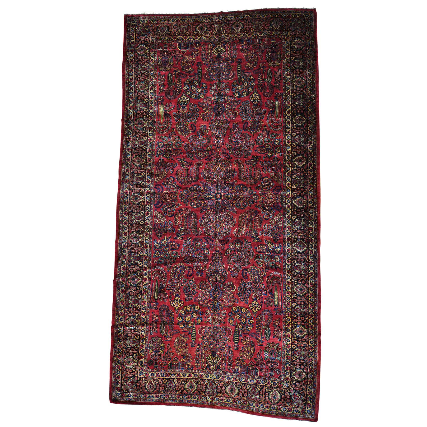 Antique Collection Hand Knotted Red Rug No: 0154614