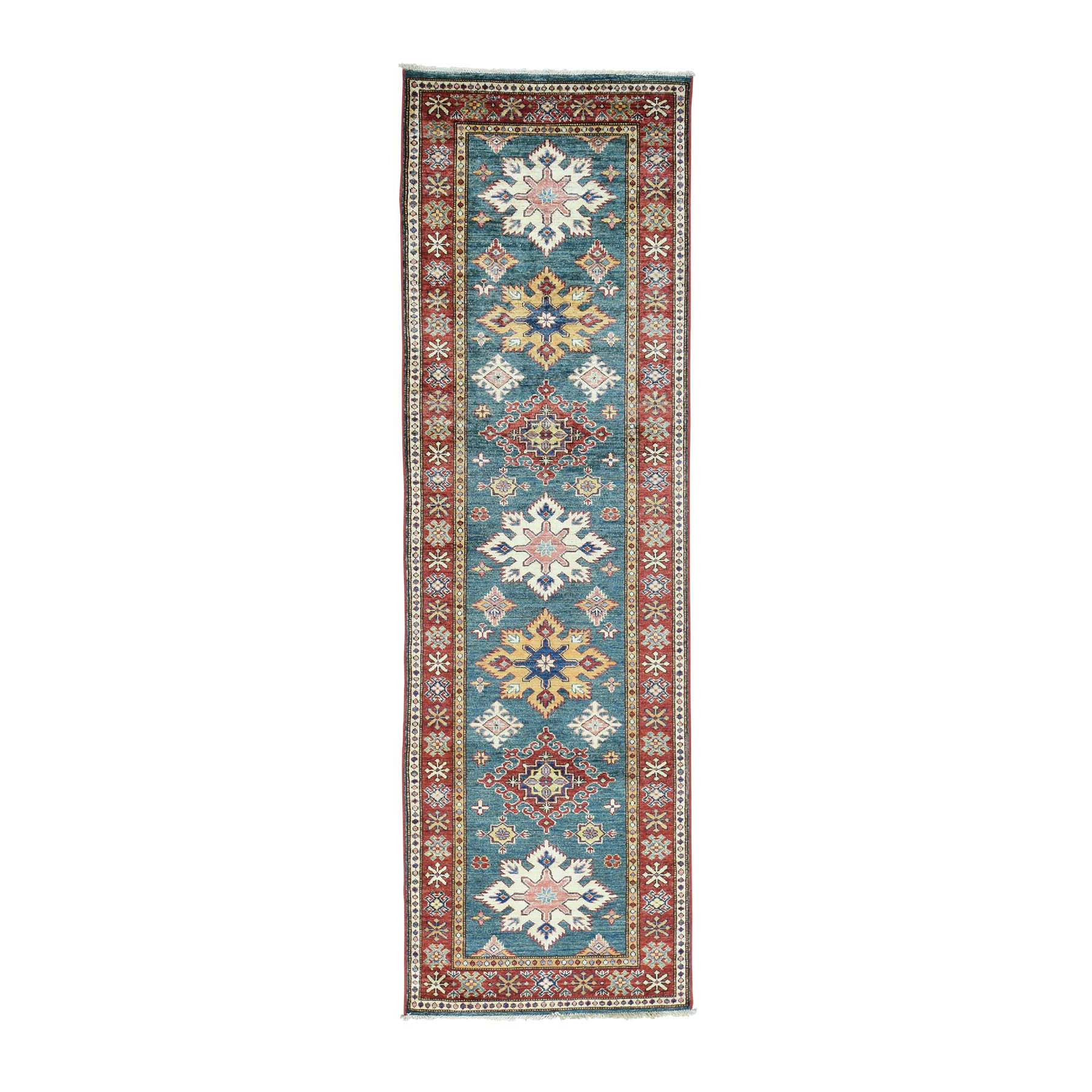 Caucasian Collection Hand Knotted Teal Rug No: 0161682