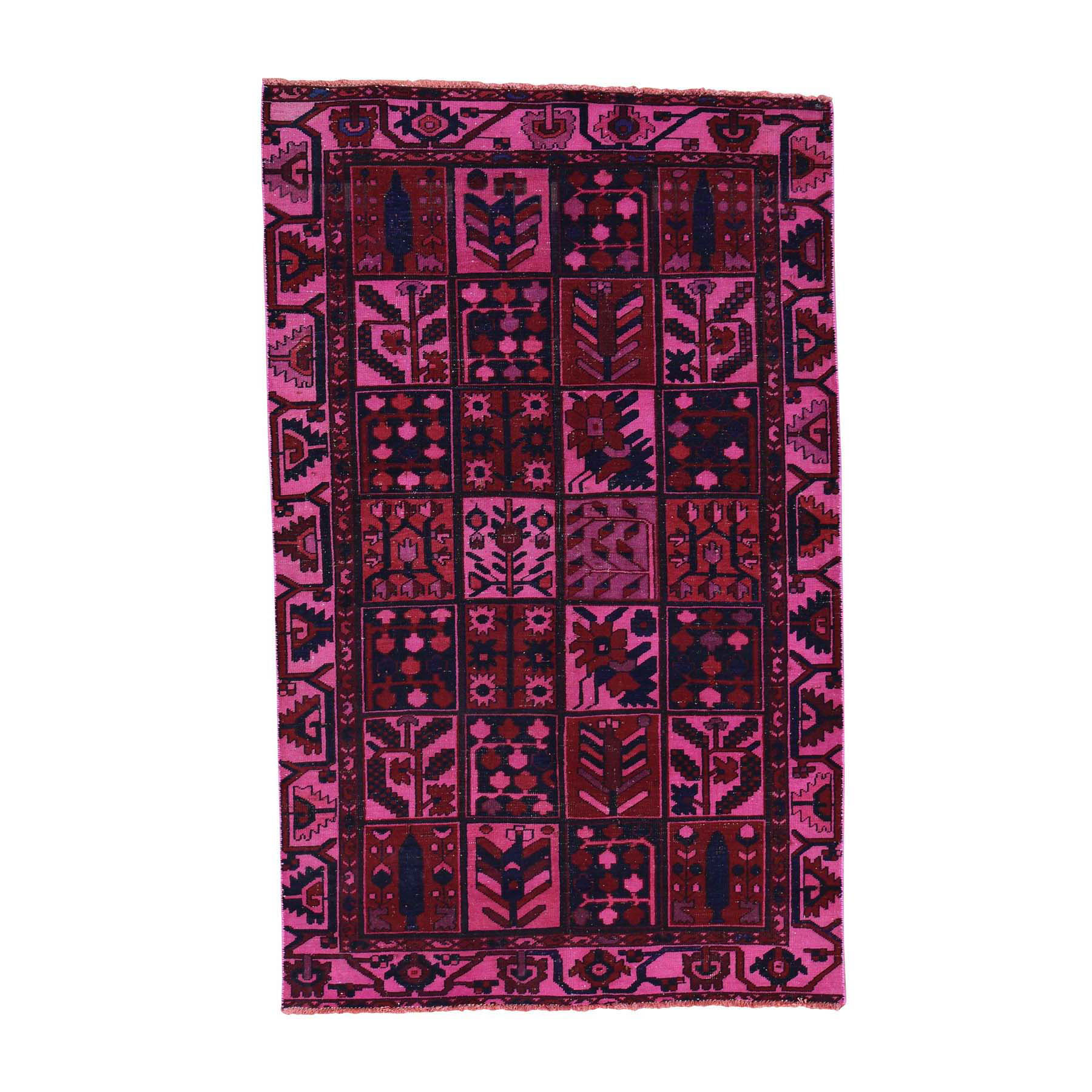 Fetneh Collection And Vintage Overdyed Collection Hand Knotted Pink Rug No: 170226