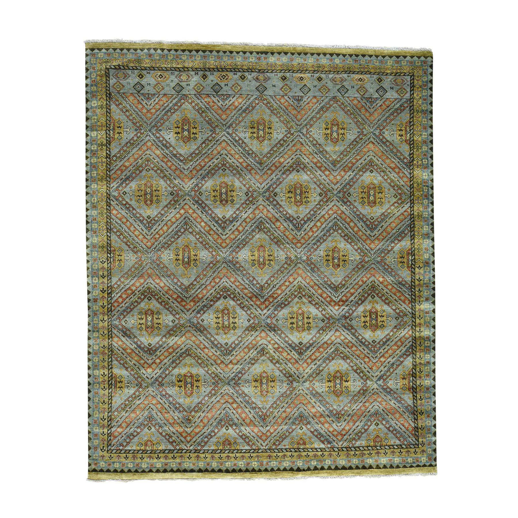 Nomadic And Village Collection Hand Knotted Grey Rug No: 0170708