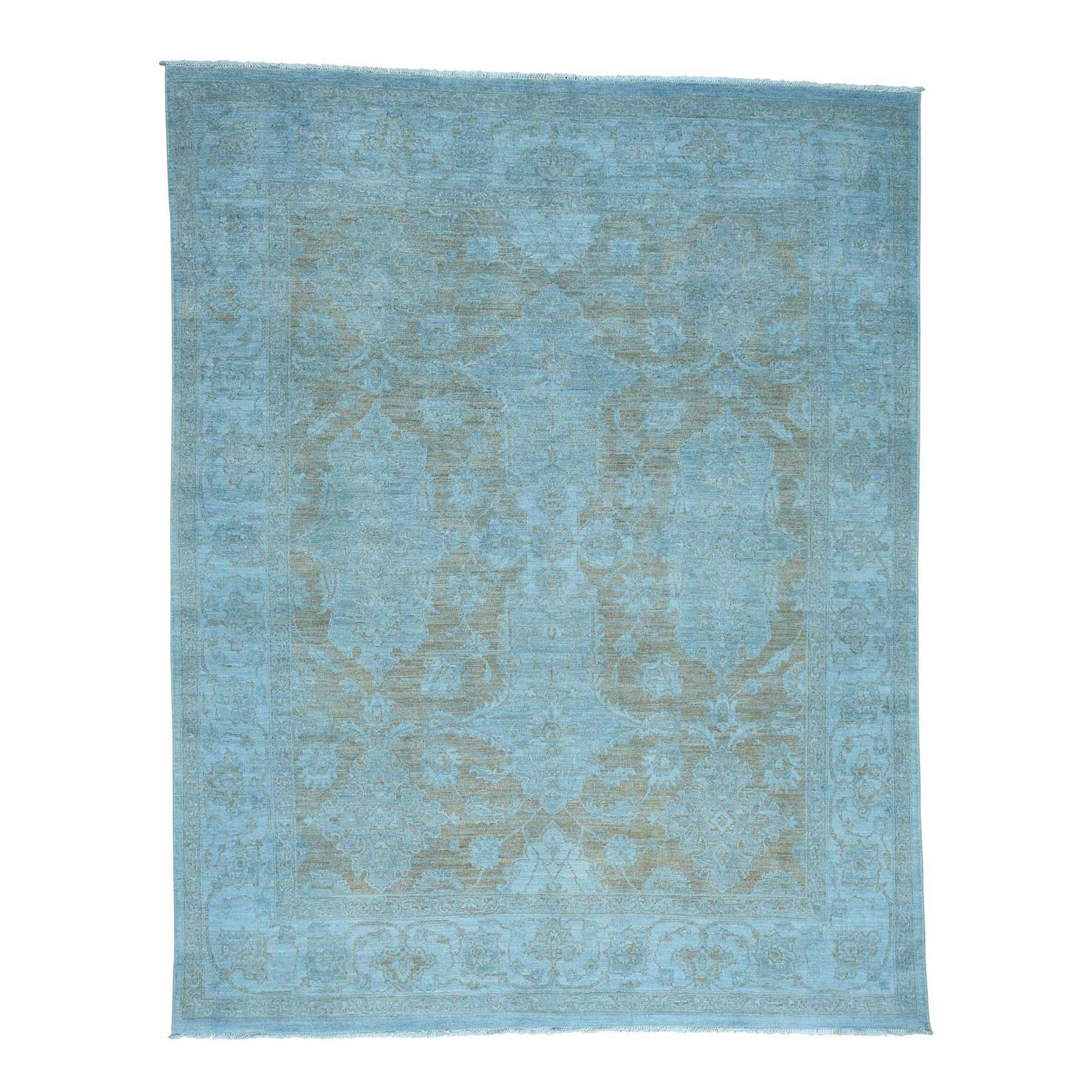 Fetneh Collection And Vintage Overdyed Collection Hand Knotted Blue Rug No: 0173076