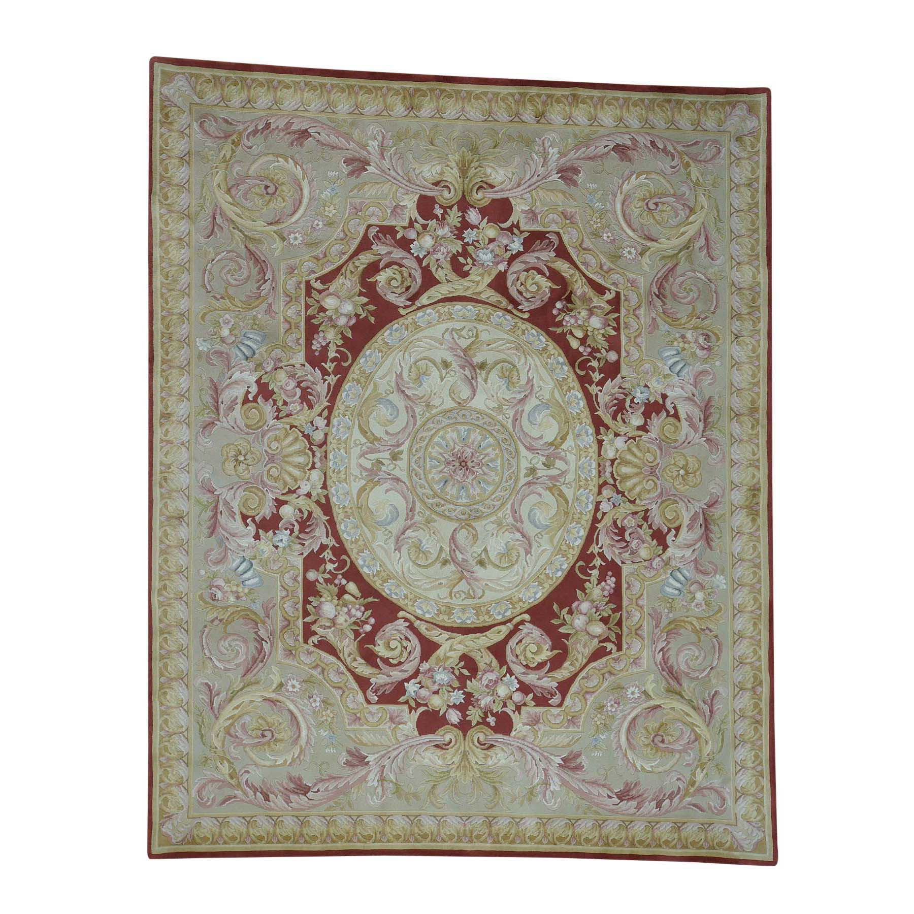 Elegant European Collection Hand Knotted Red Rug No: 173812