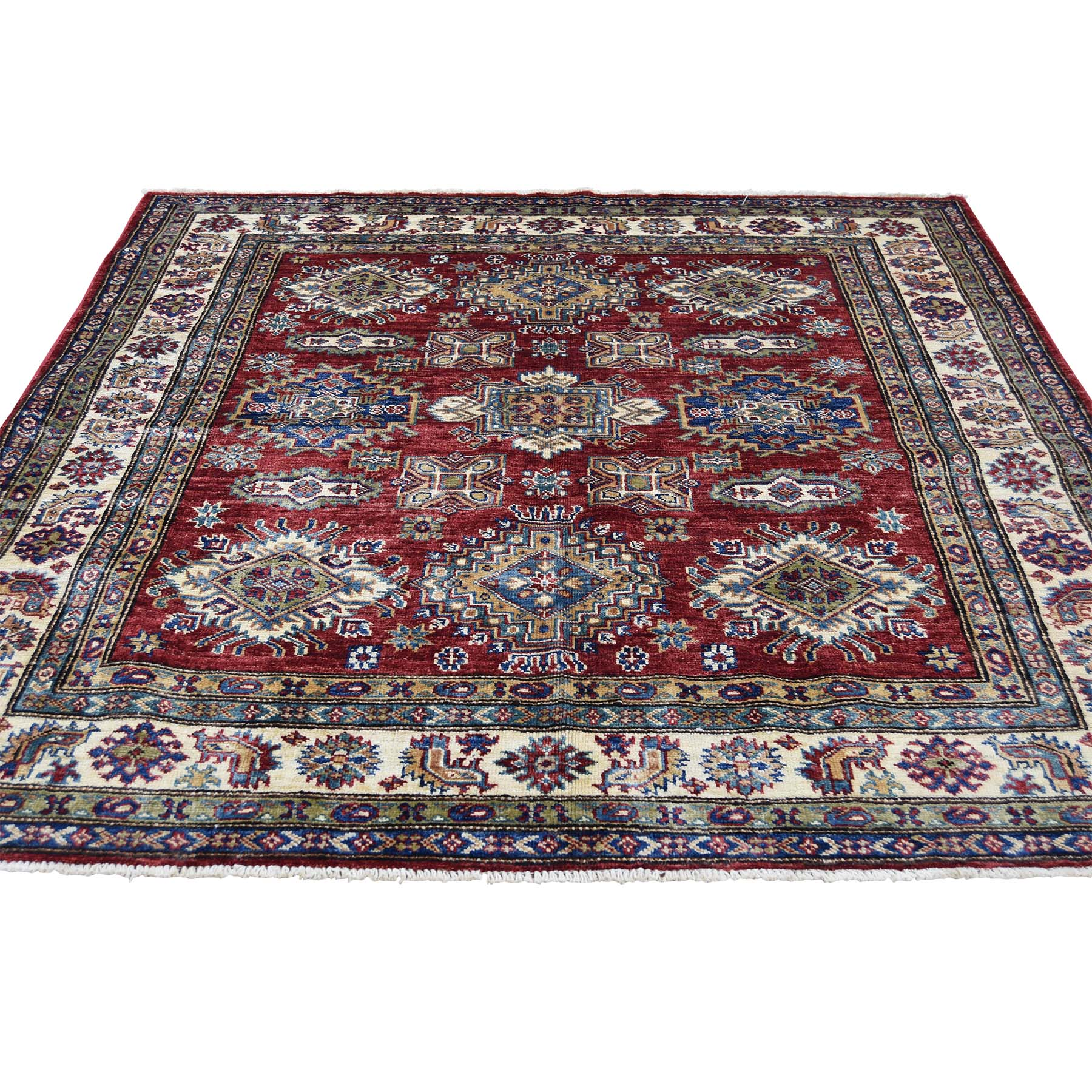 Caucasian Collection Hand Knotted Red Rug No: 0180376