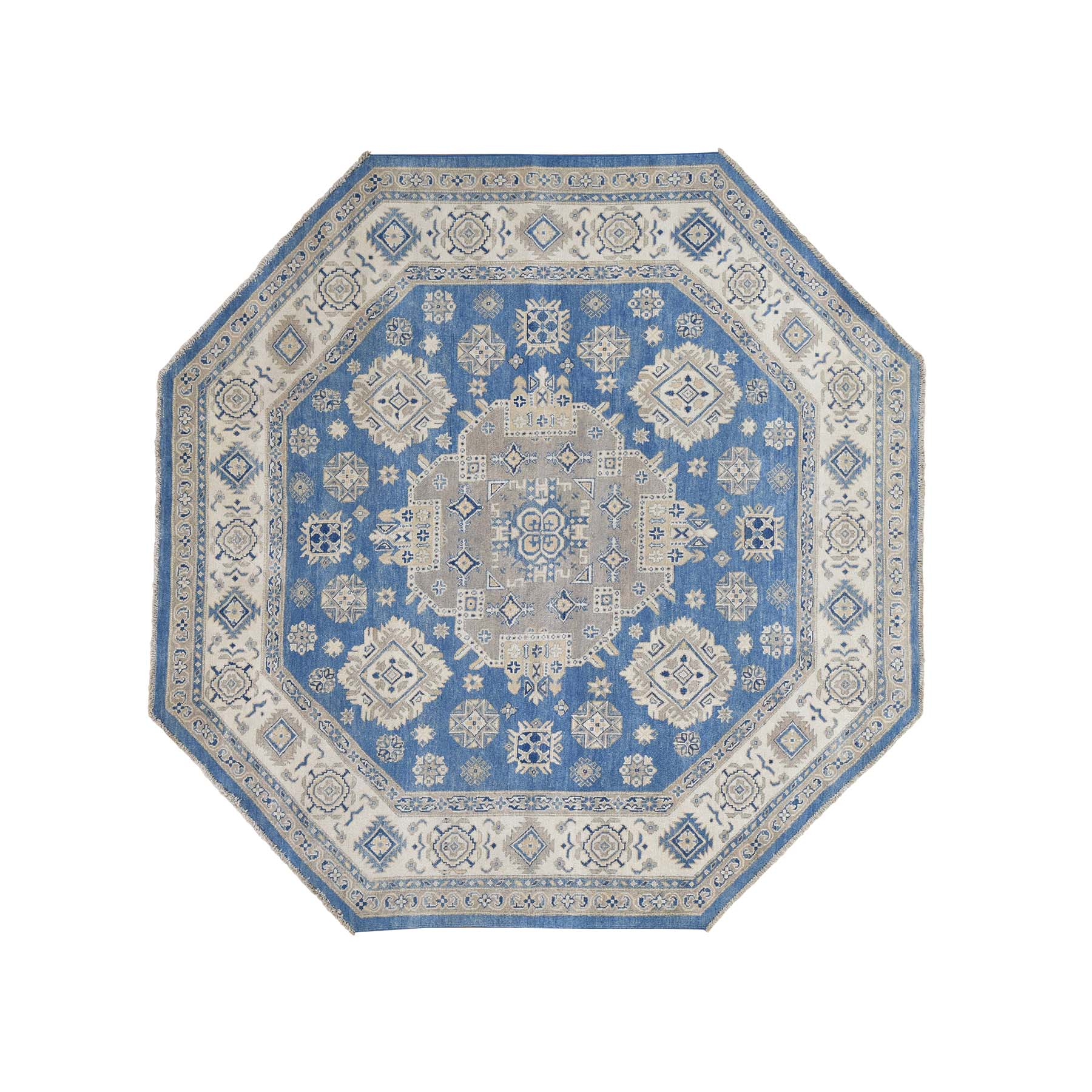 Caucasian Collection Hand Knotted Blue Rug No: 0181248