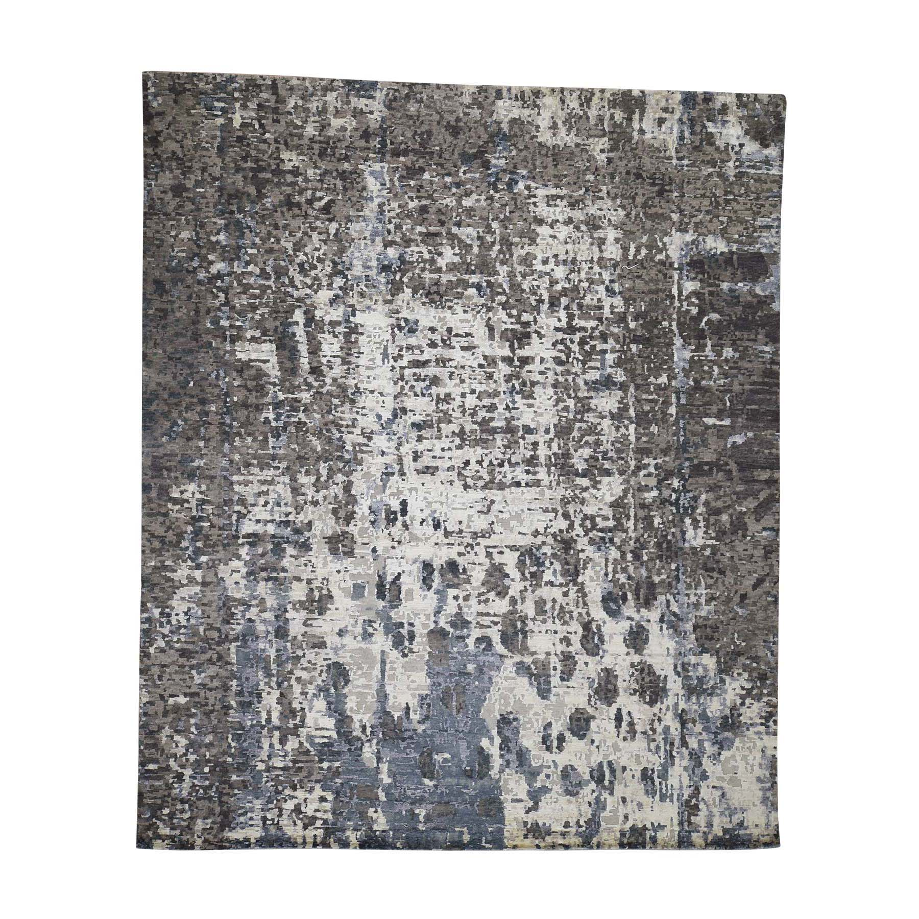 Mid Century Modern Collection Hand Knotted Ivory Rug No: 0186858