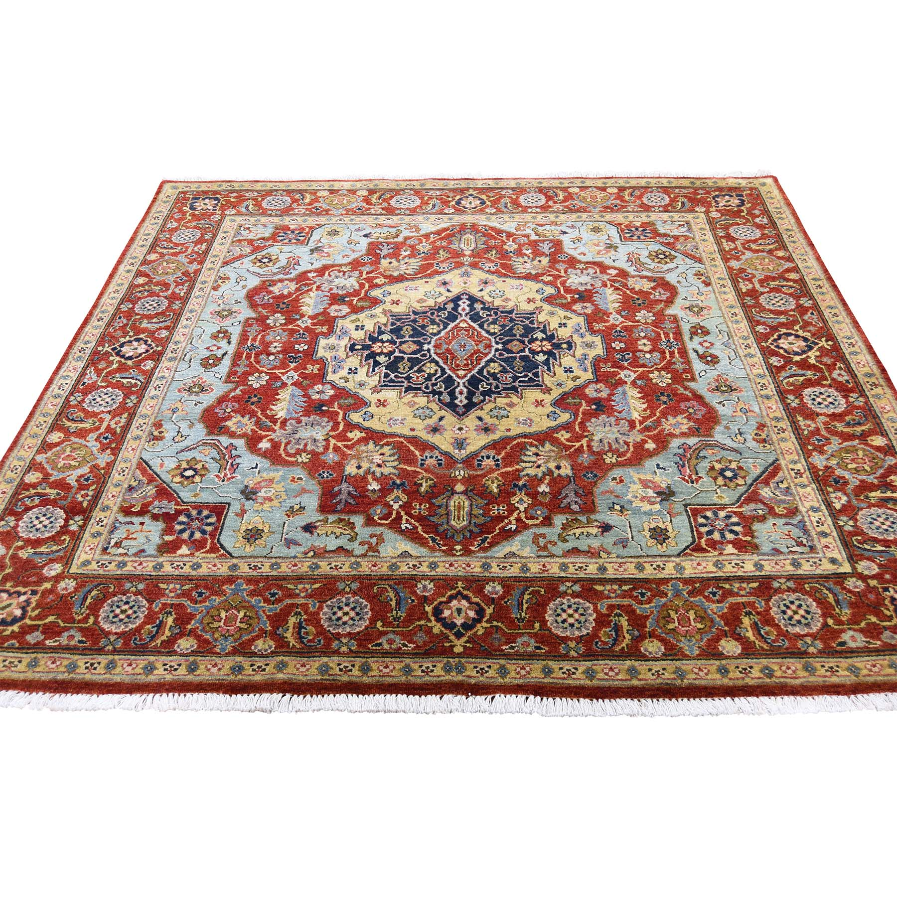 Serapi Heriz and Bakhshayesh Collection Hand Knotted Red Rug No: 0189438