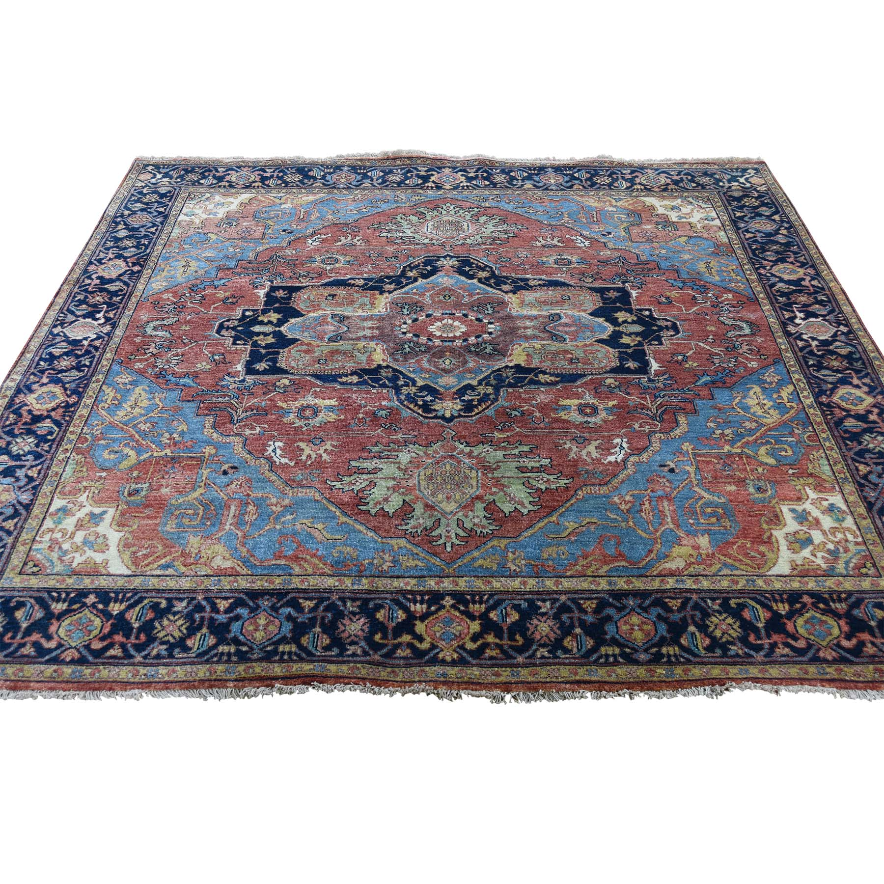 Serapi Heriz and Bakhshayesh Collection Hand Knotted Red Rug No: 189882